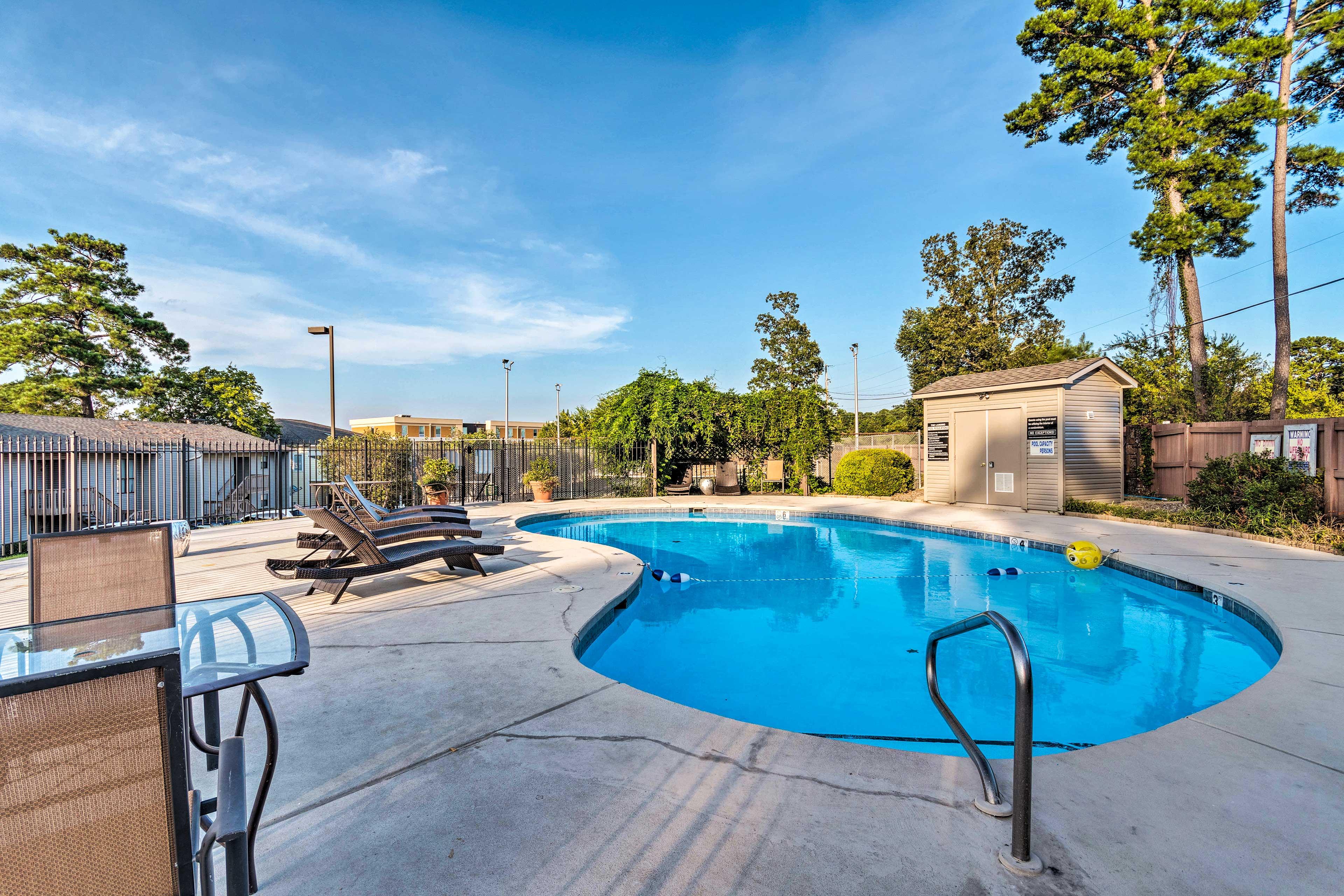 The pool is mere steps away!