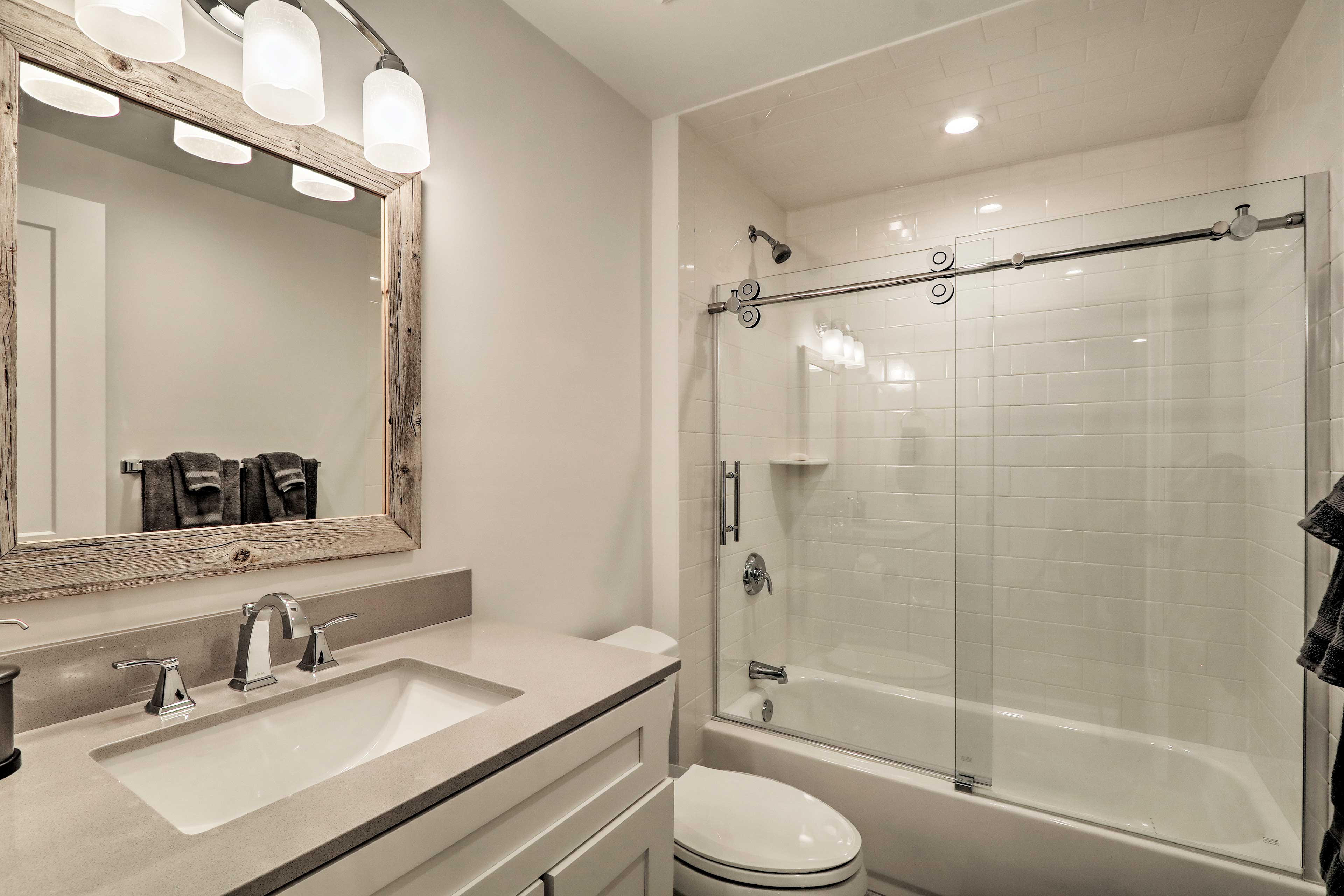 Rinse off with a shower or relax with a bath.
