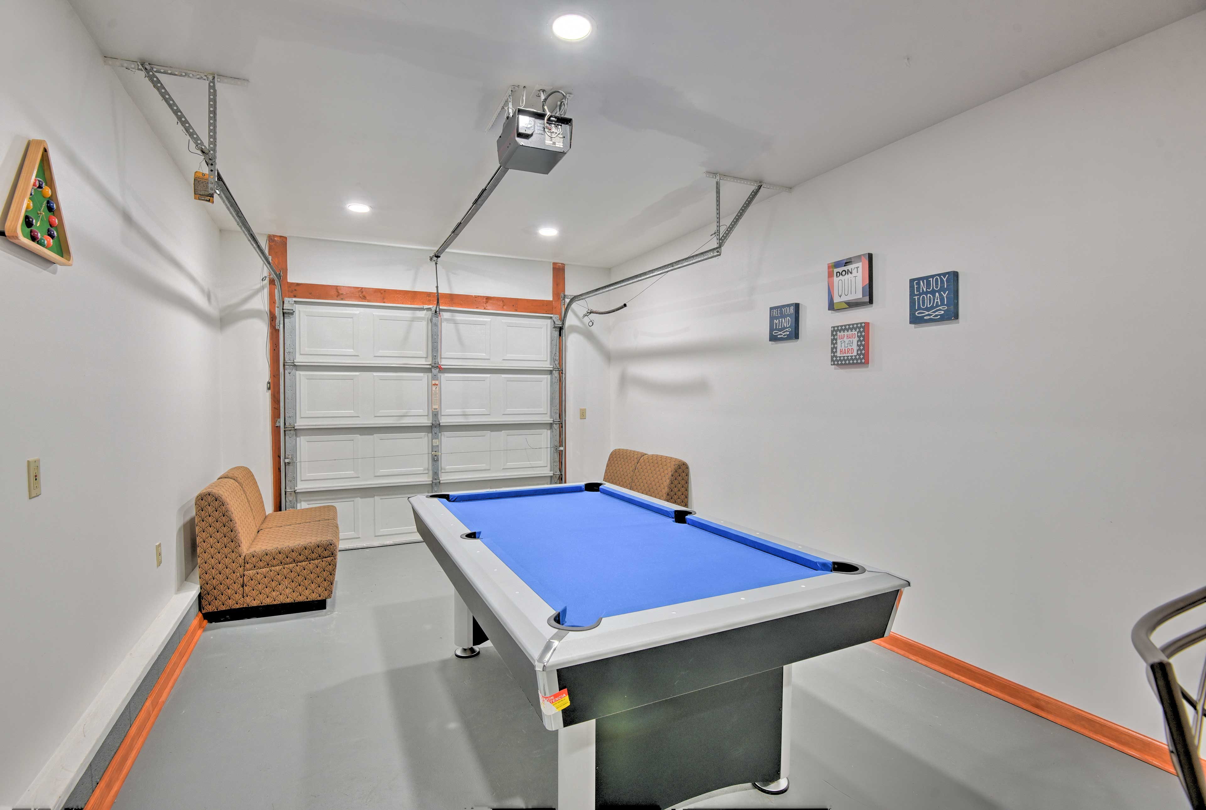 Play a game of billiards or cut throat for odd or even groups!