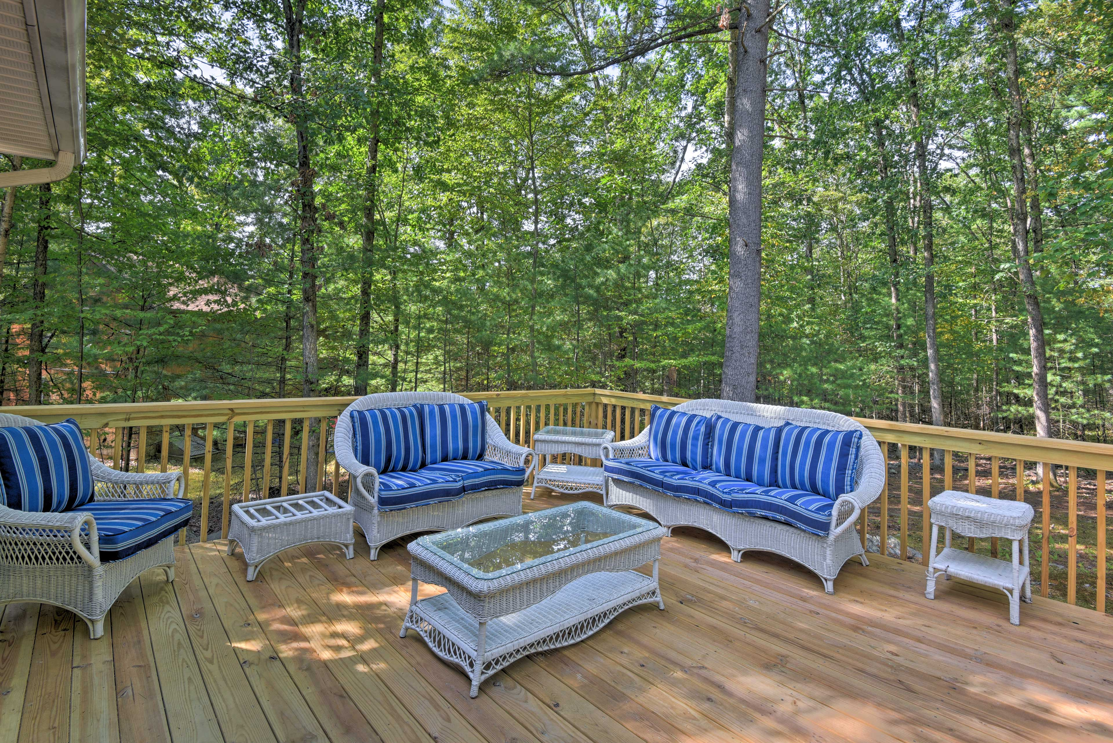 Enjoy some fresh air on the updated deck.