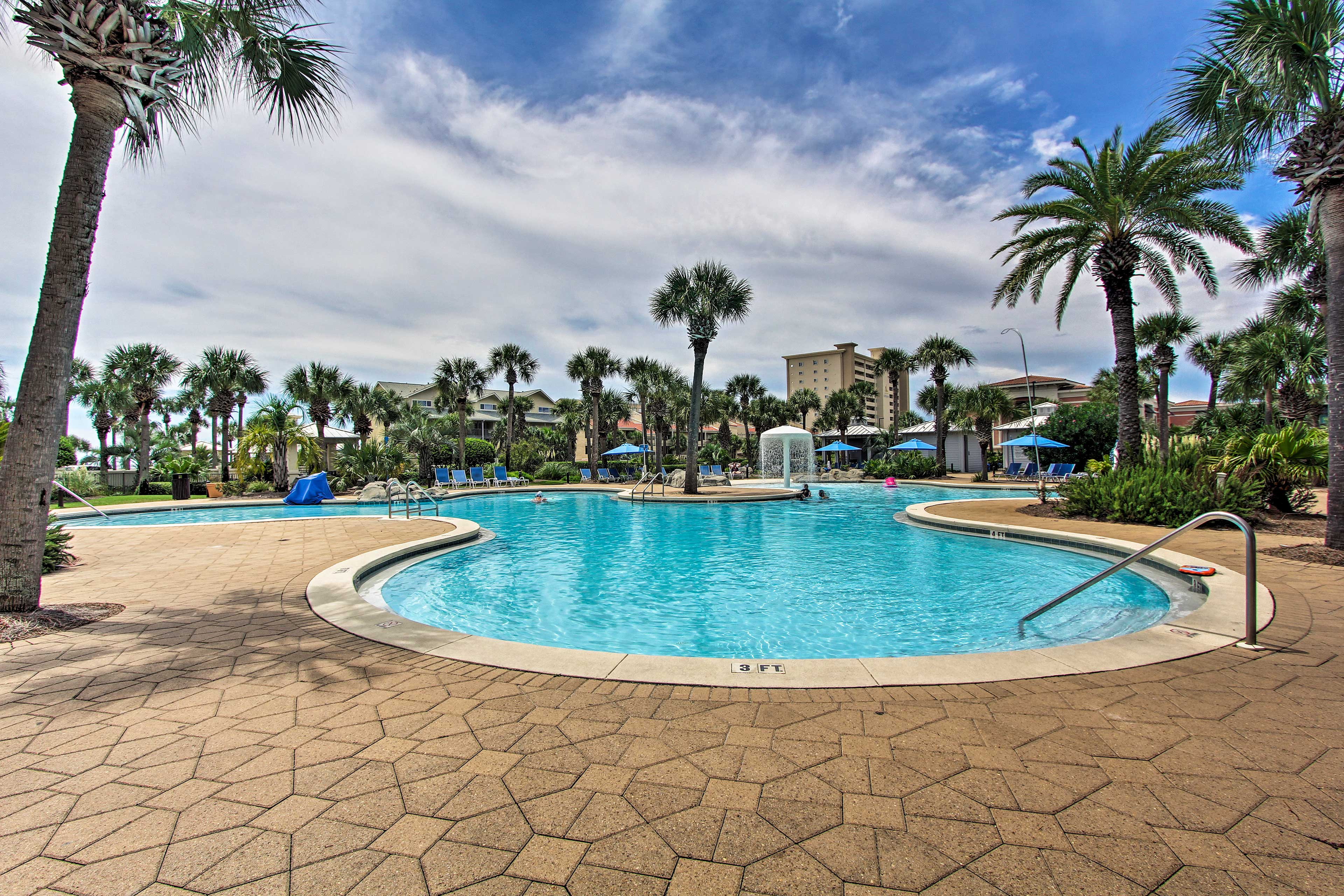 Hop in the community pool and unwind when you're not spending time on the beach!
