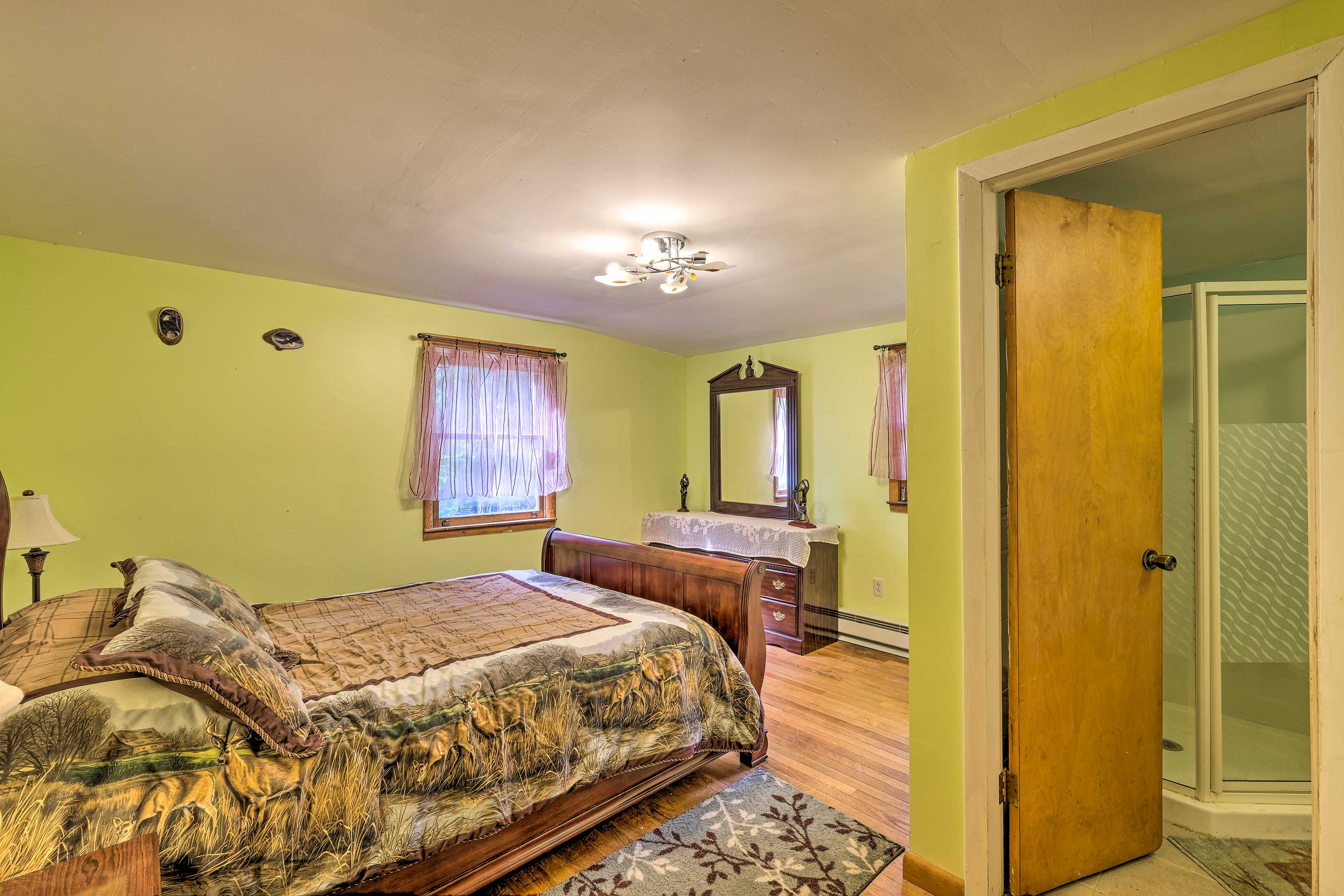 Two guests can claim the master bedroom as their sanctuary.