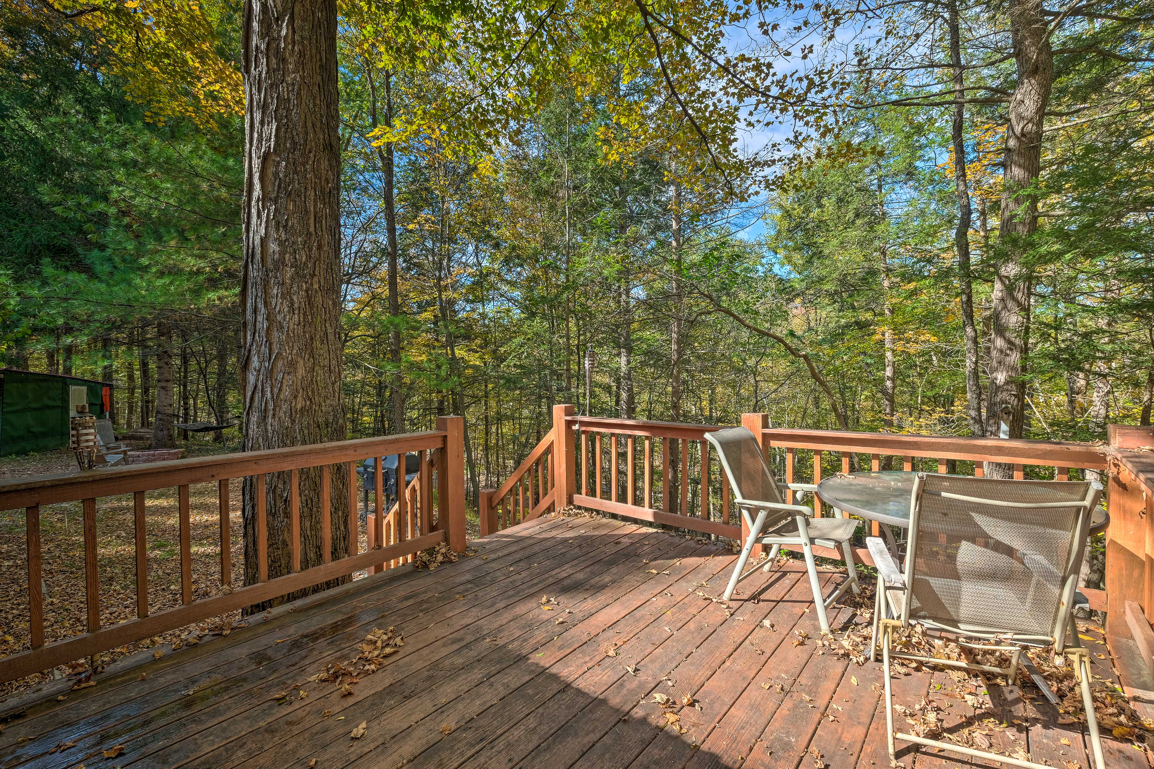 The large deck is a great place to spend a summer day!