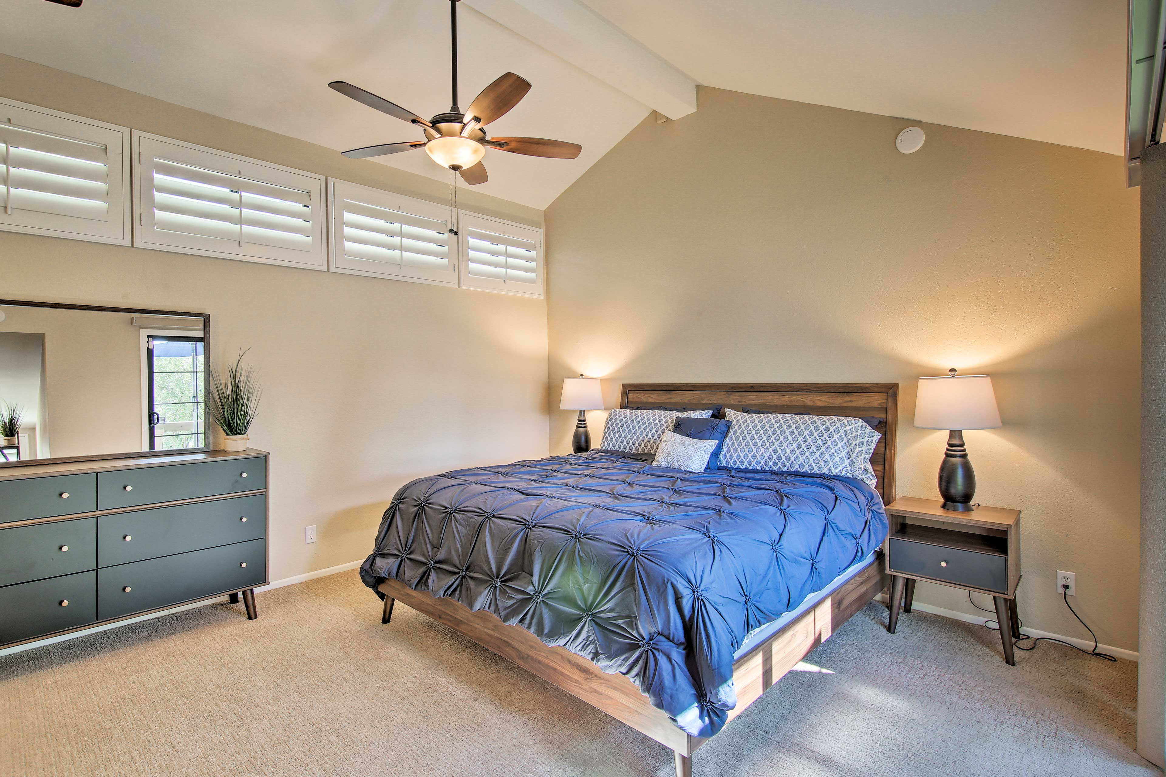 Claim the 2nd-floor master bedroom as your own!