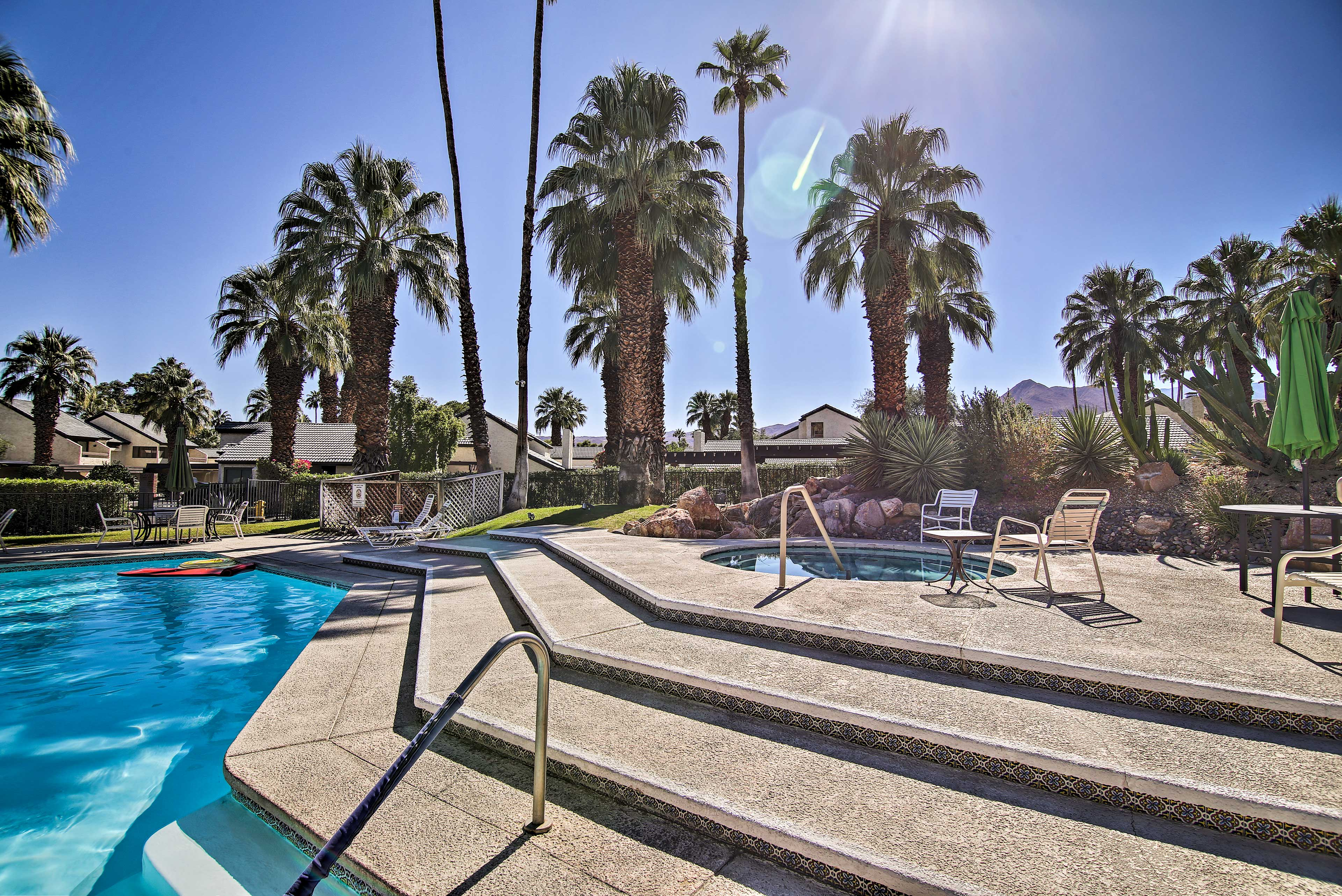 Lounge the day away by the resort pool and hot tub.