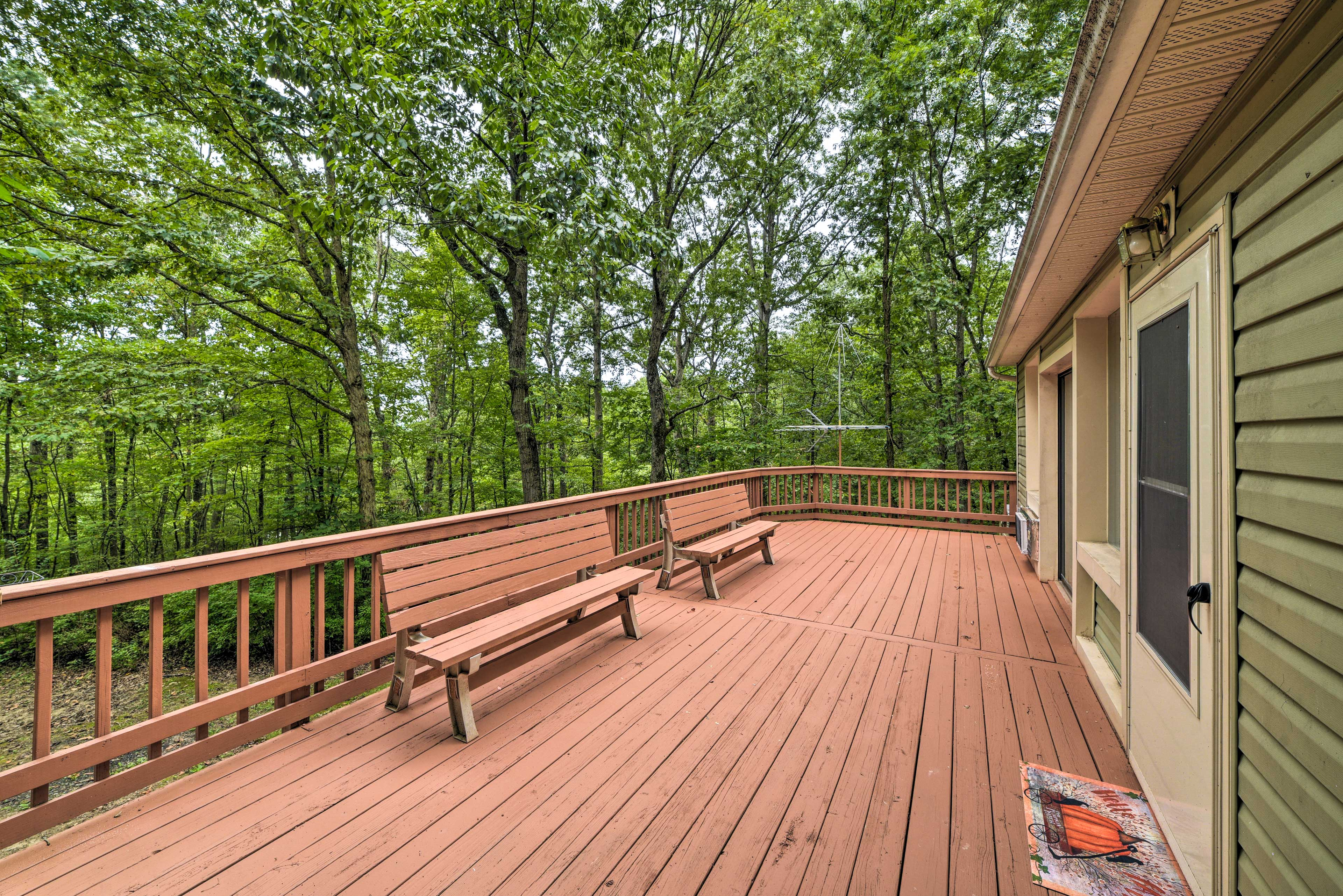 Breathe in the fresh air as you hang out on the deck.