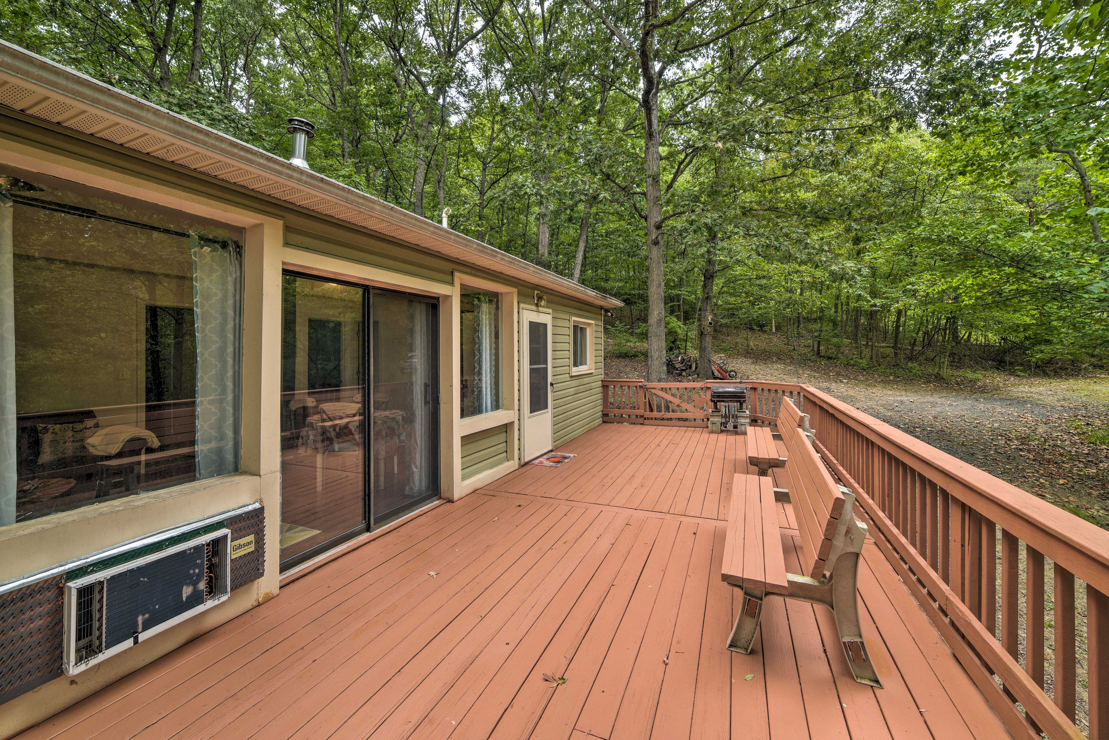 There is so much room for activities out on the deck!