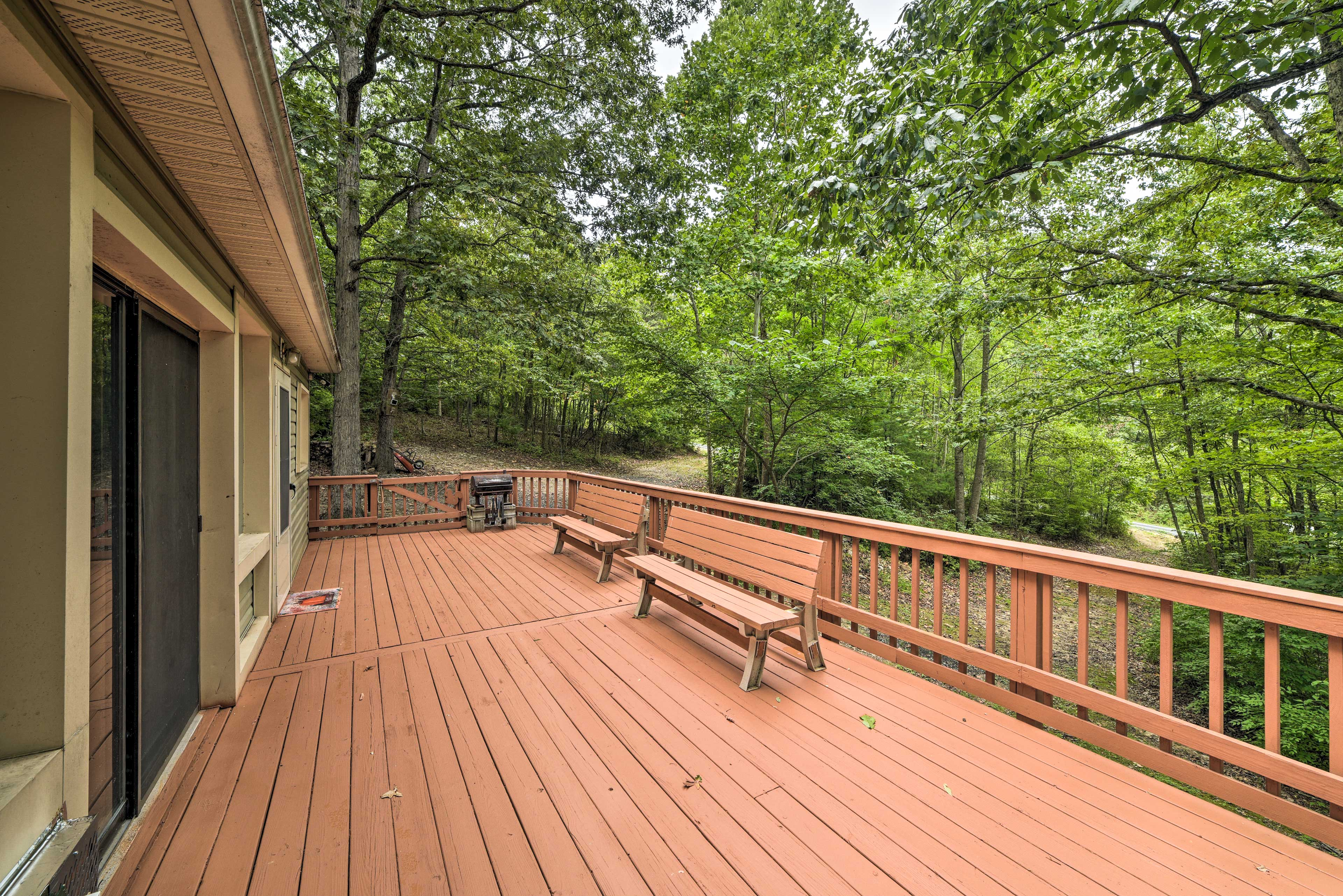 There will be plenty of room for you to relax on the spacious deck.