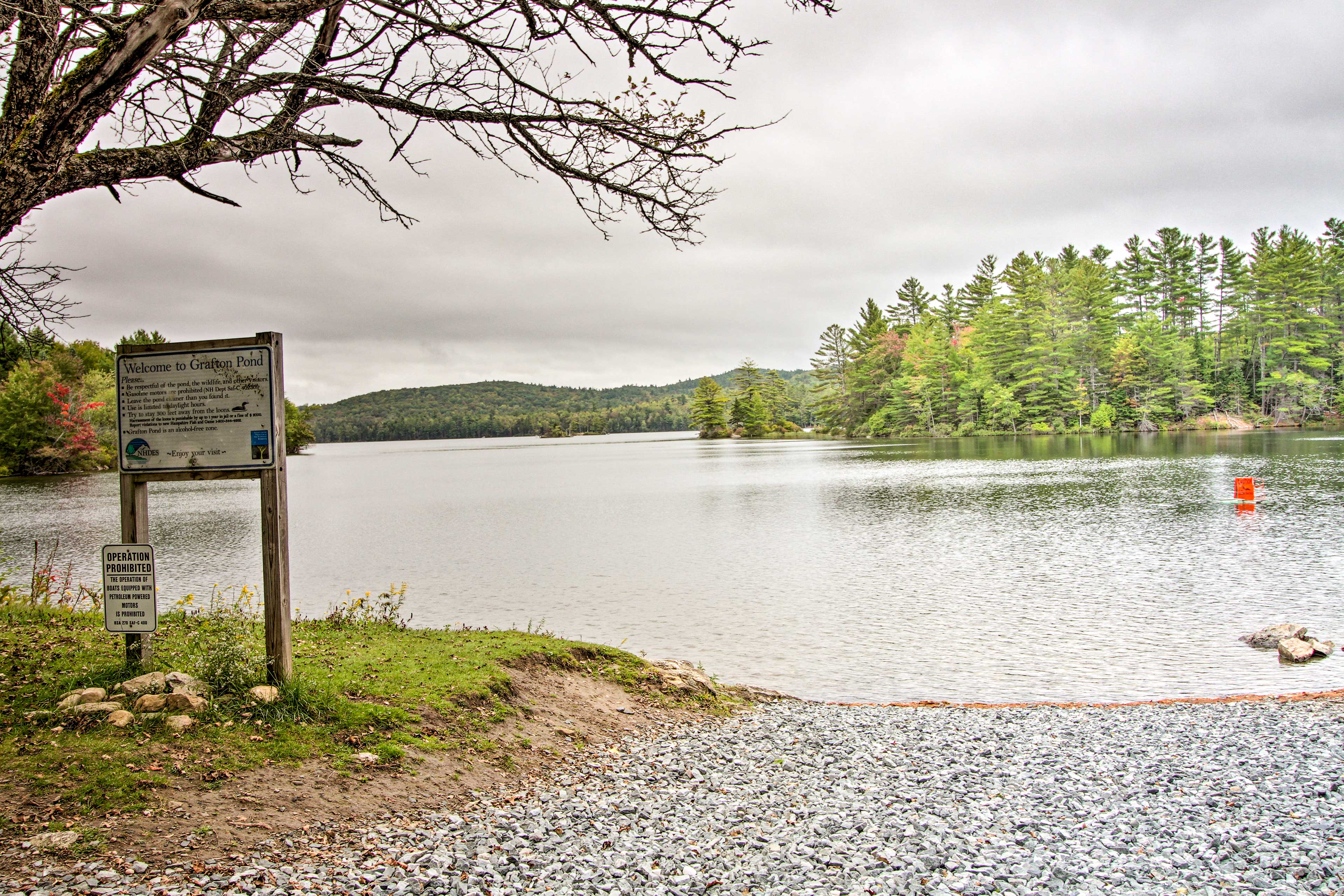 Look forward to kayaking at Grafton Pond, minutes from the home.
