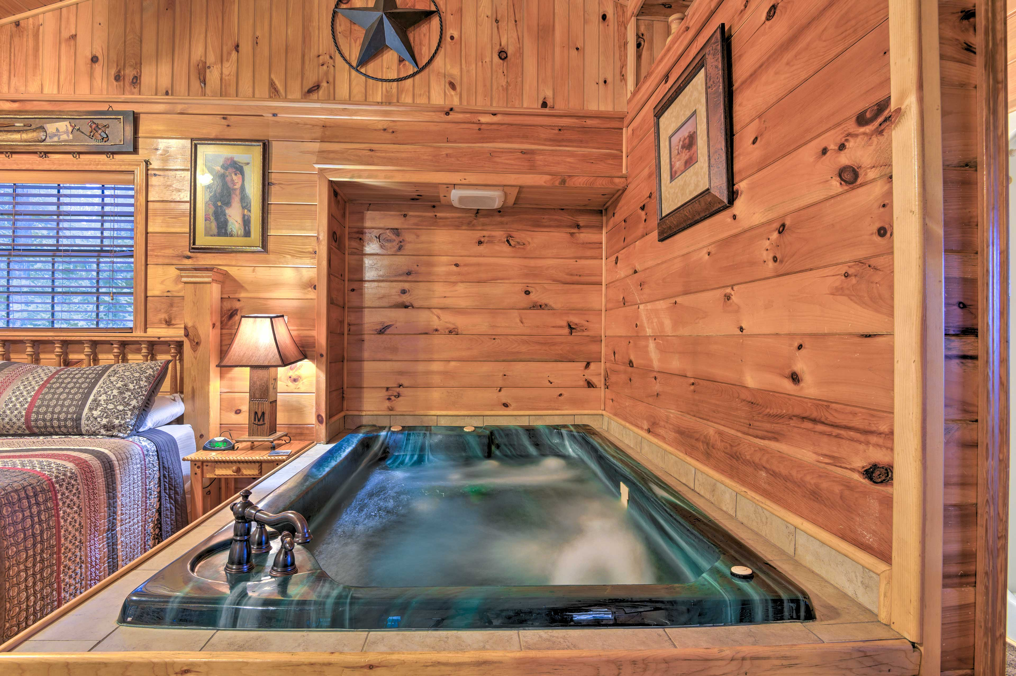 Before calling it a night, go for a dip in the indoor hot tub!