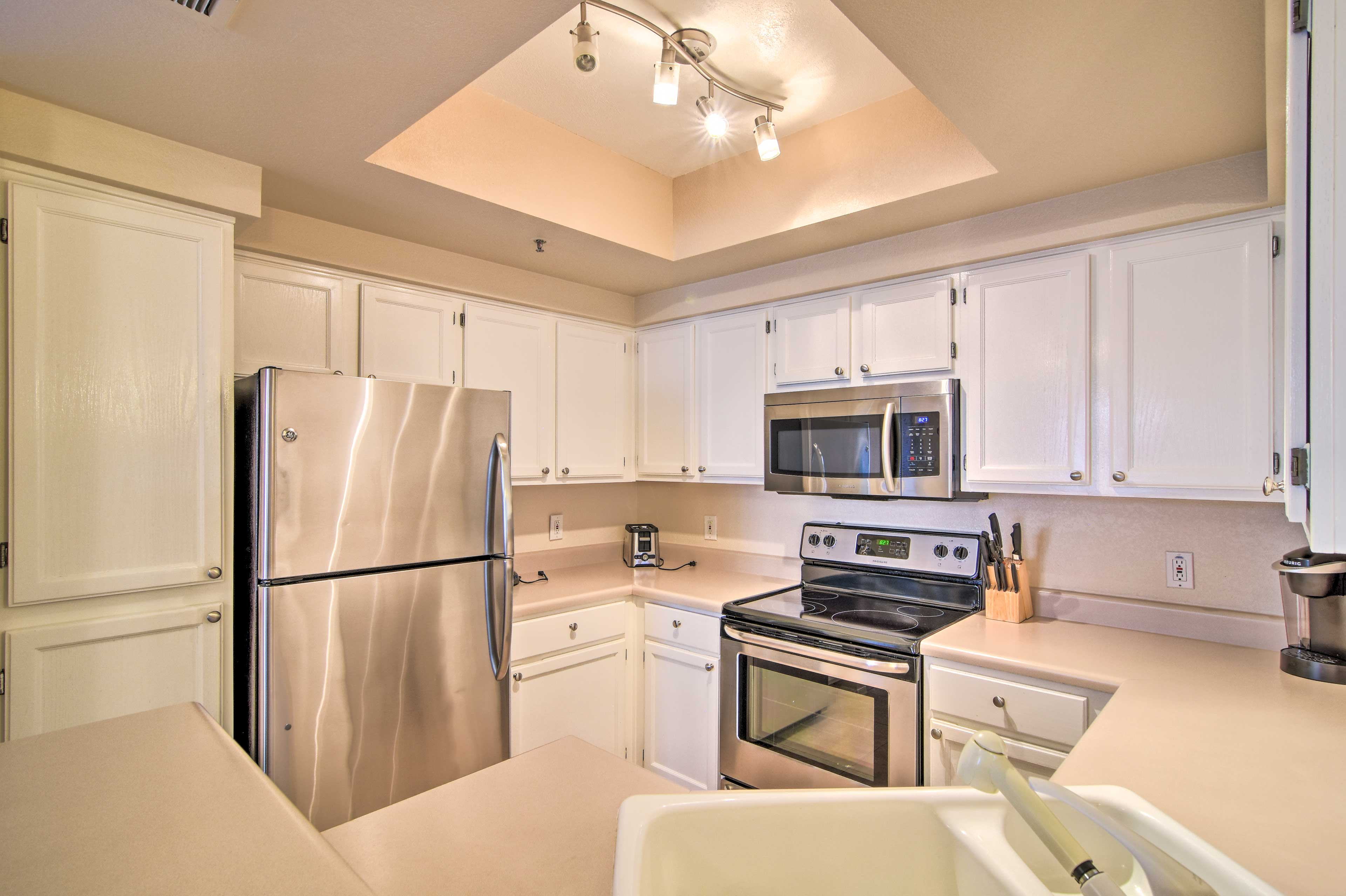 The stainless steel appliances will inspire delicious meals!
