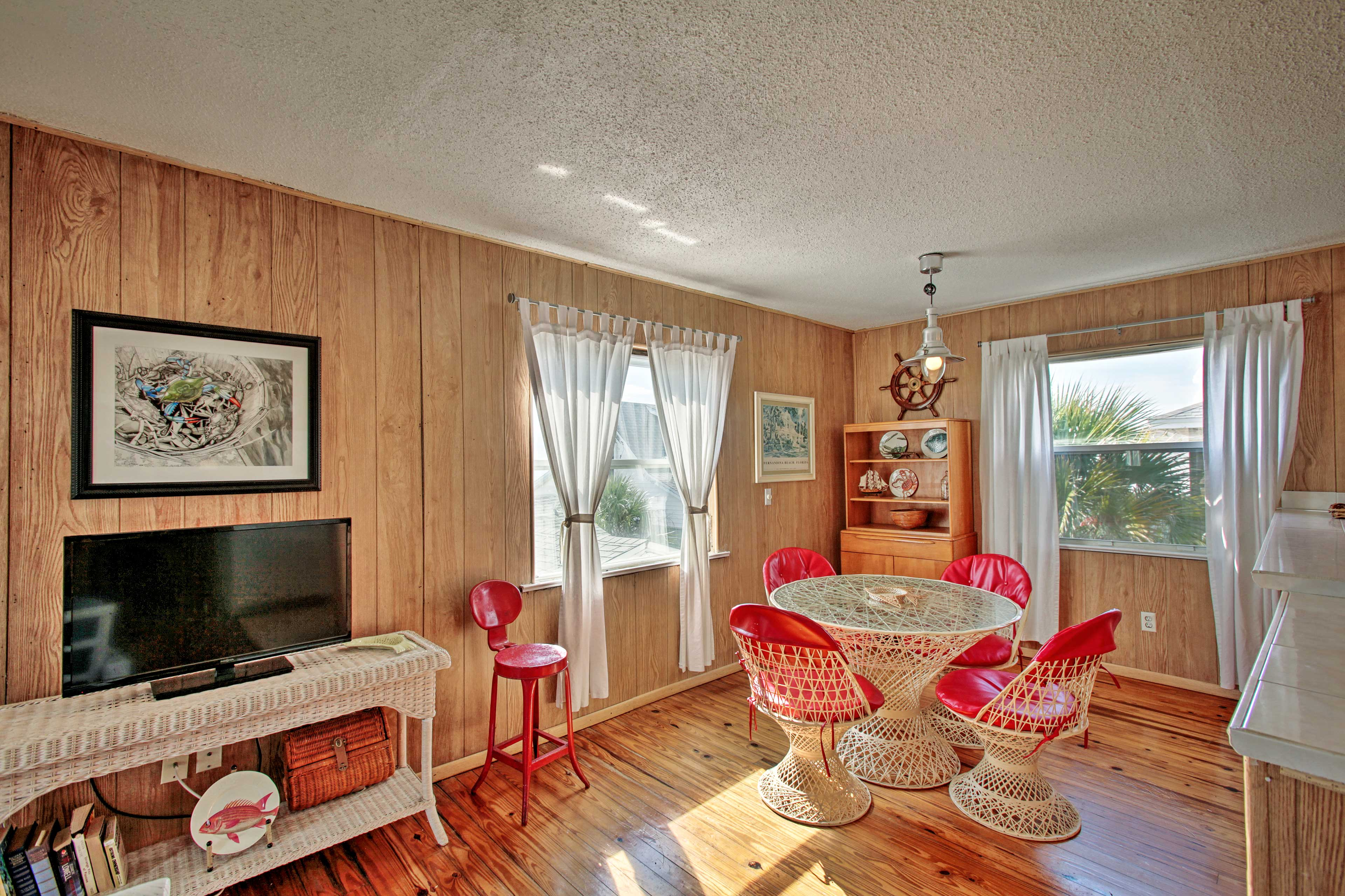 Take a break from the beach inside the air-conditioned home.