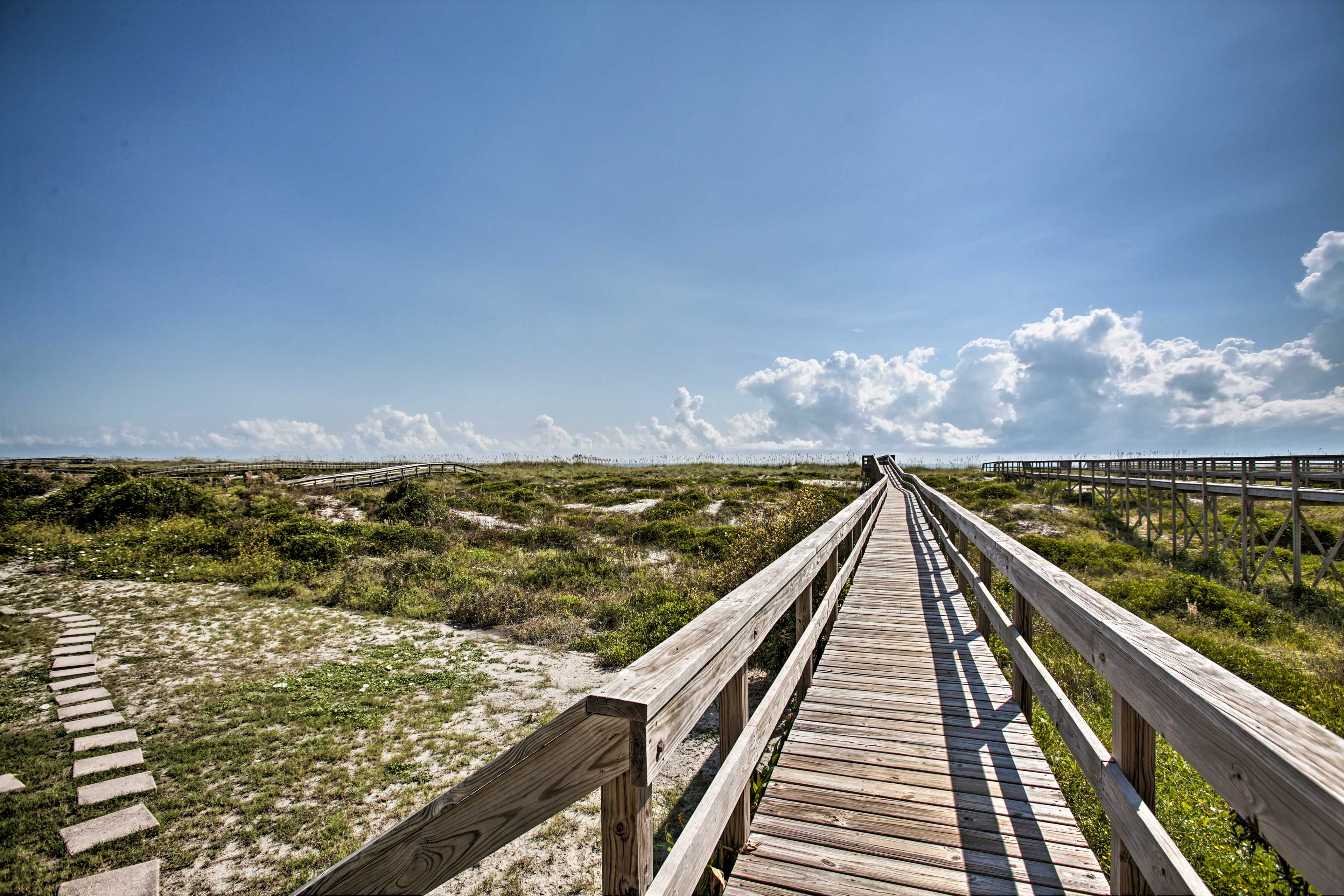 Access the beach hassle-free with a this walkway.