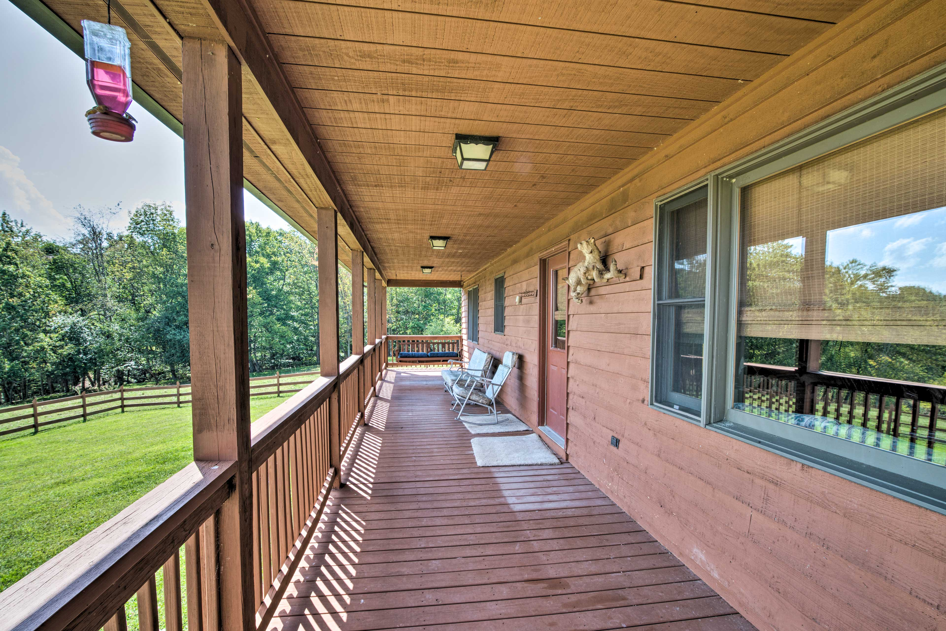 Relax on the porch upon your arrival.