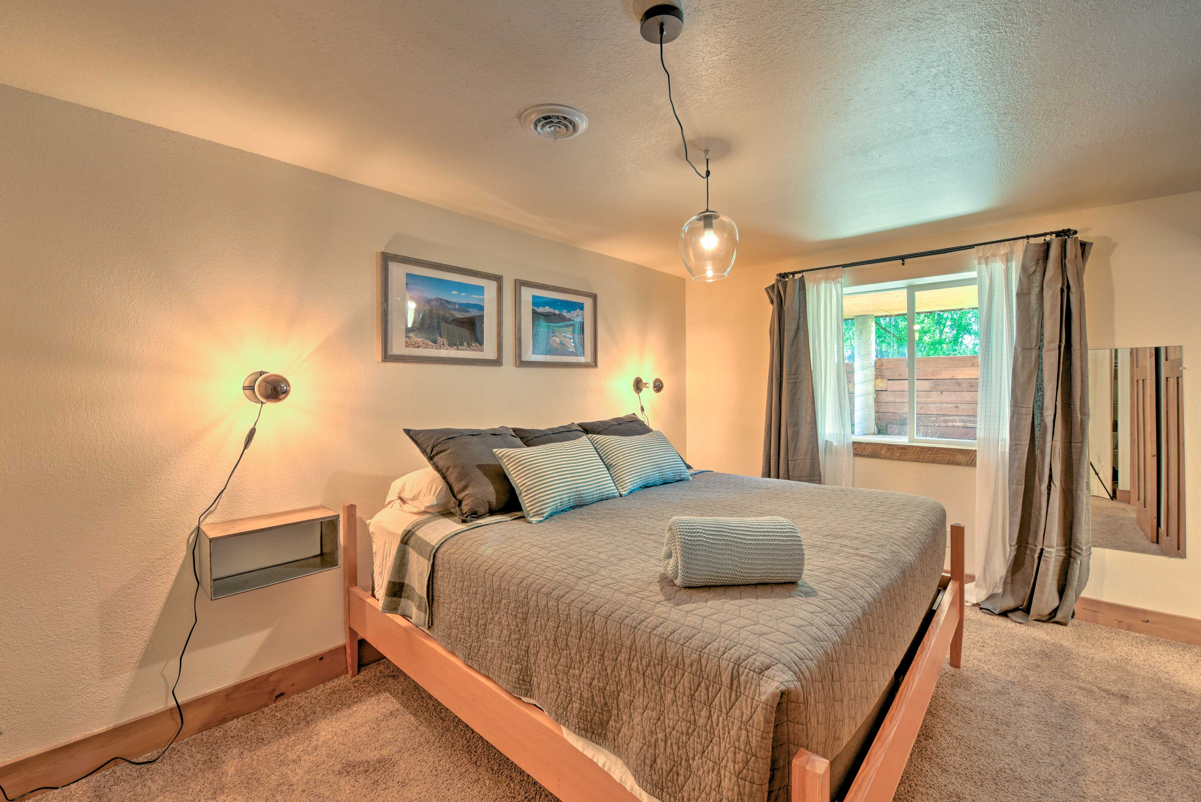 Second Master Bedroom | King Bed | Downstairs | Steps Required