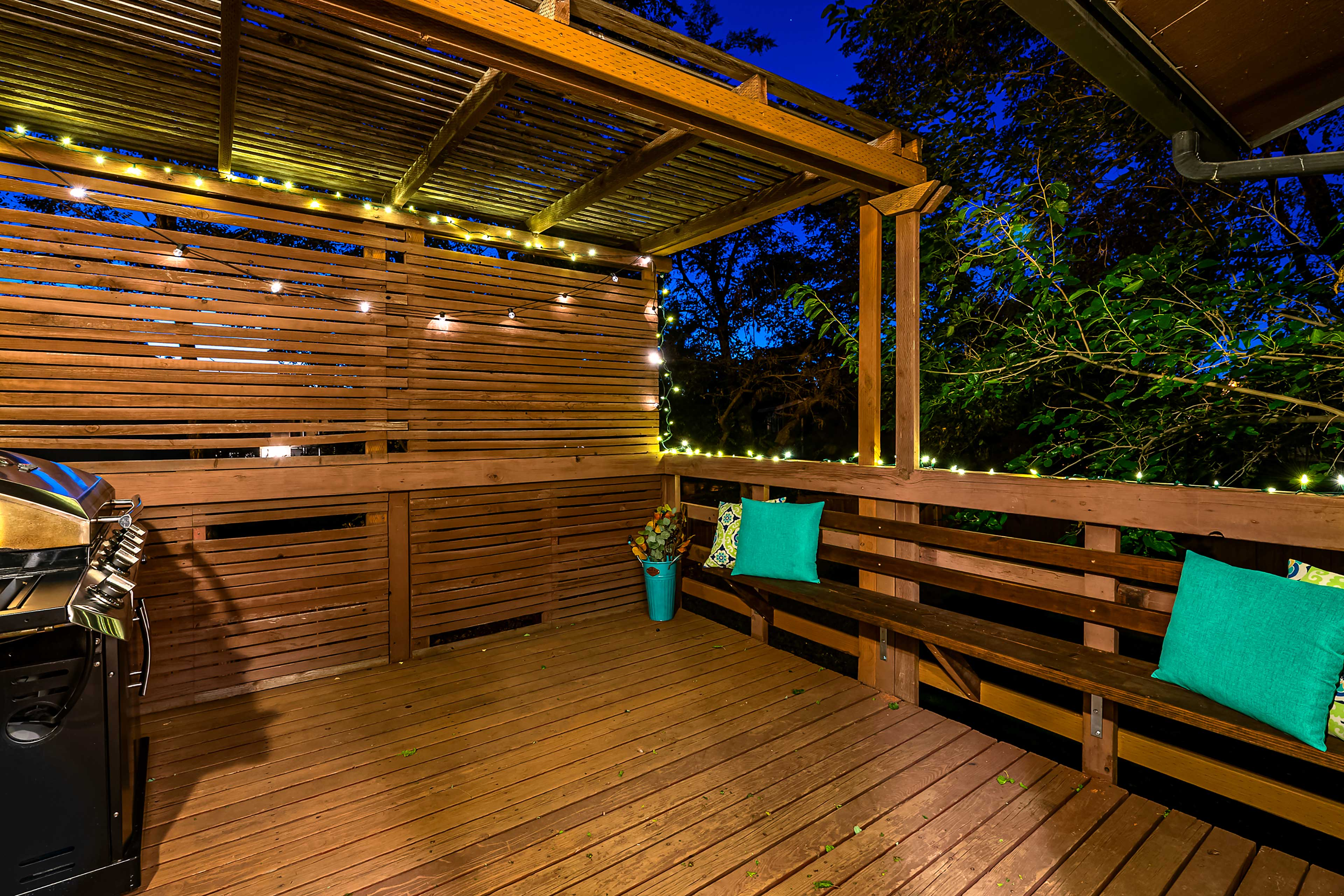 You'll love spending clear evenings outside!