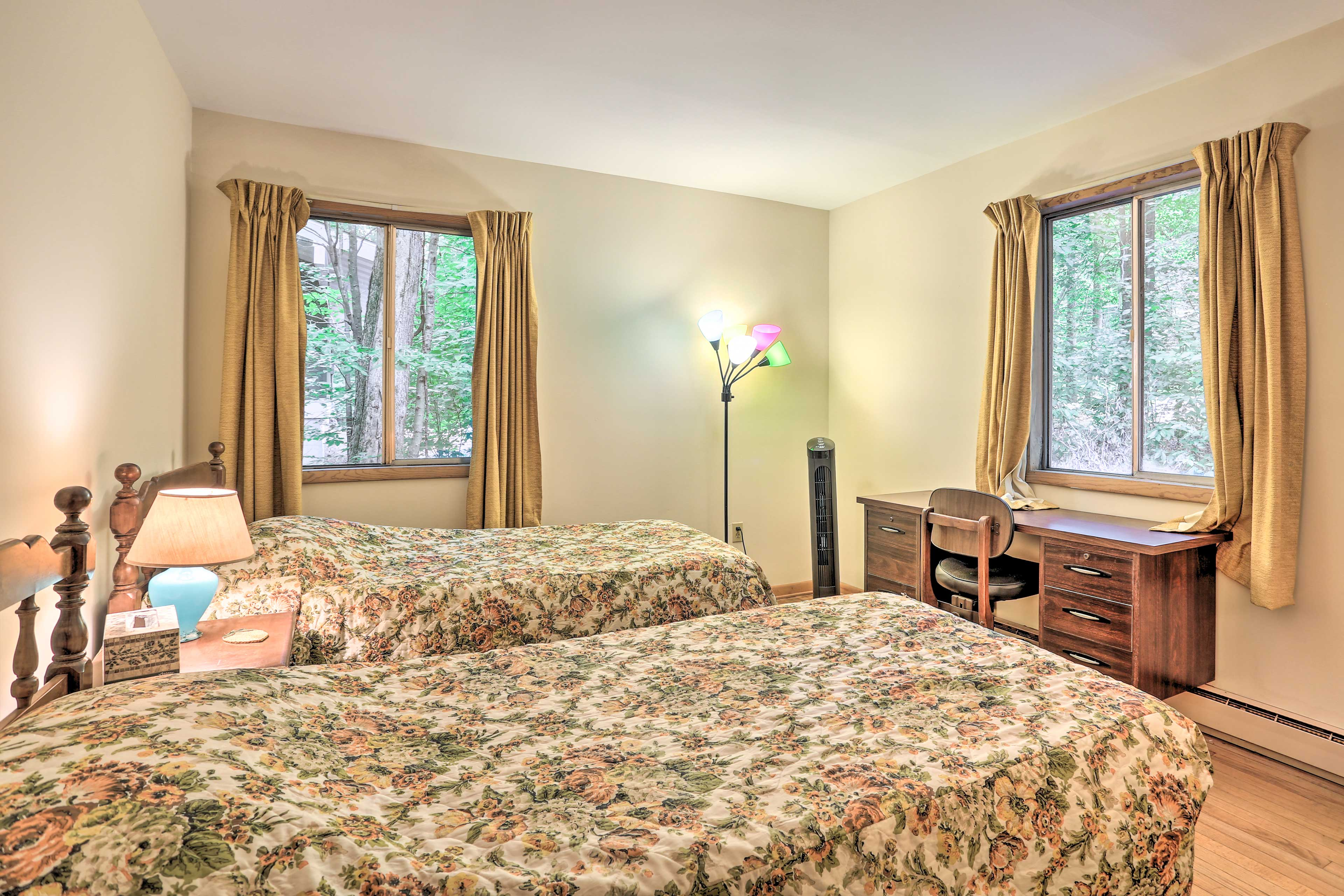 Take your pick of 2 twin-sized beds in bedroom 2.