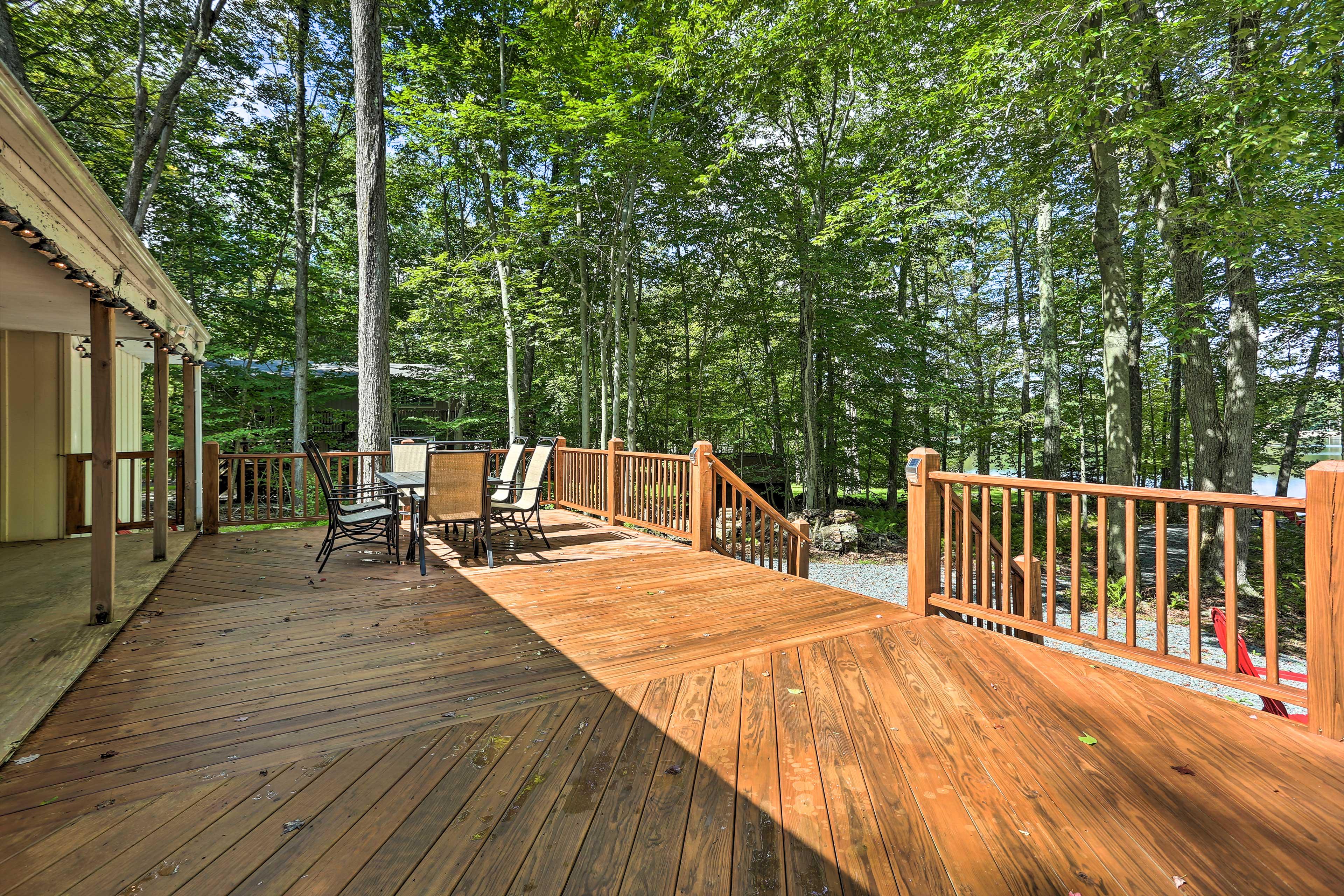 Soak up the sun on the spacious deck.