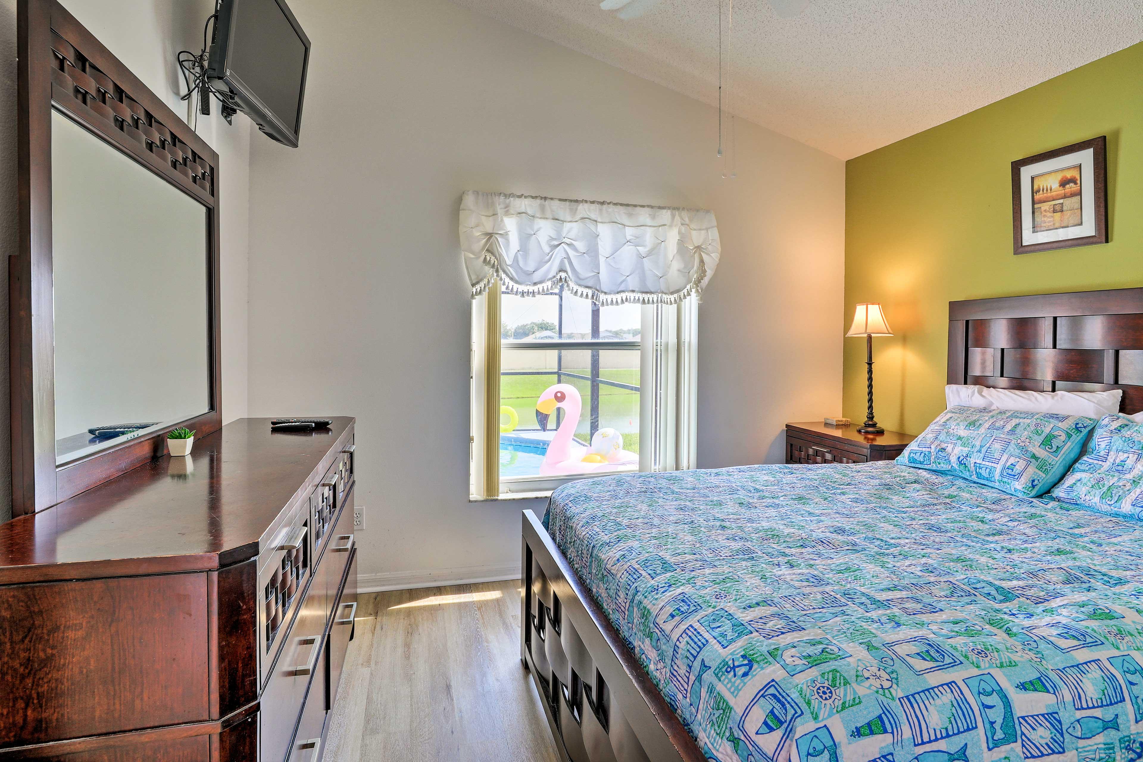 Bedroom 3 features a queen bed!