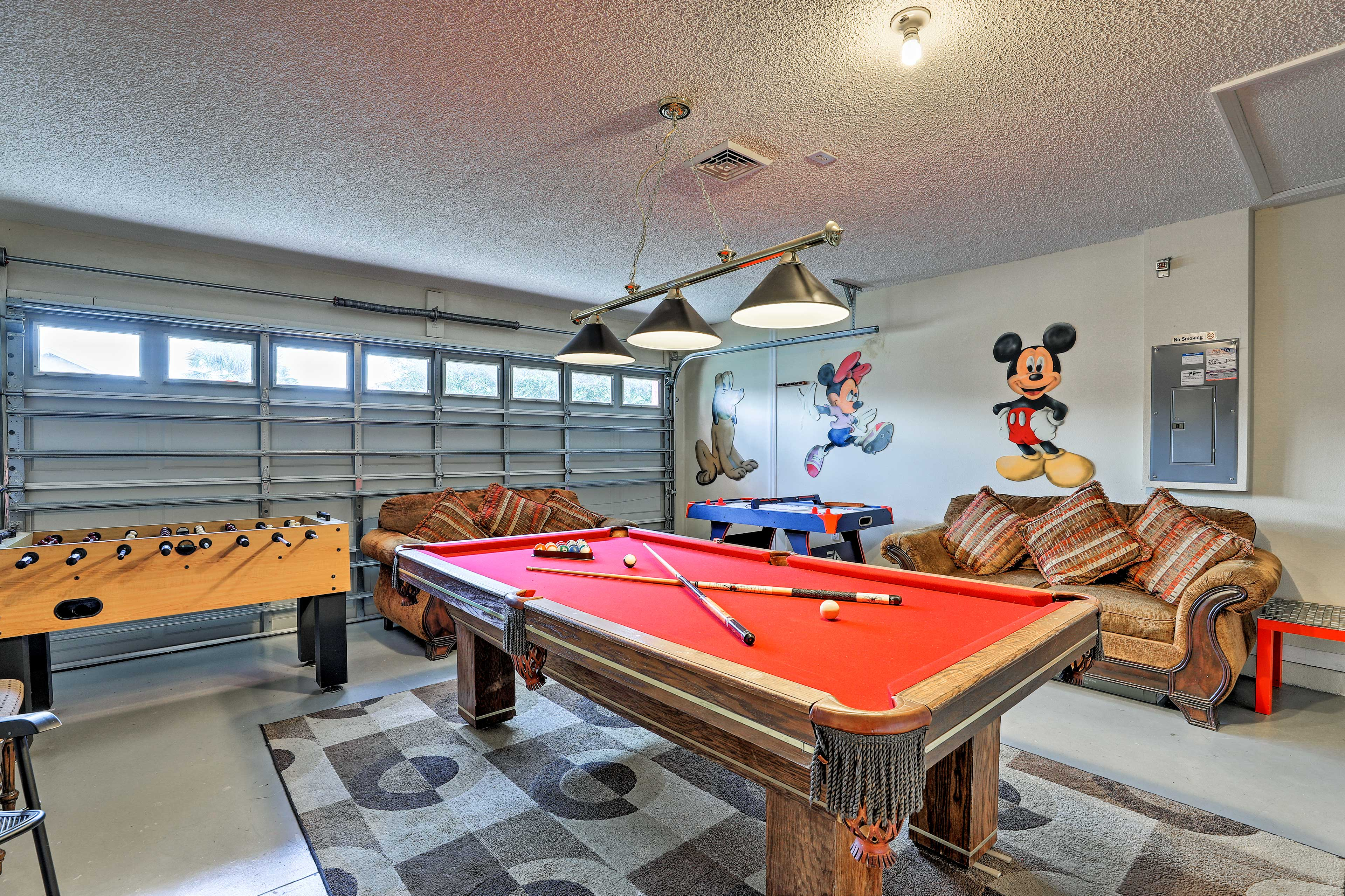 Challenge your cousin to a billiards game.