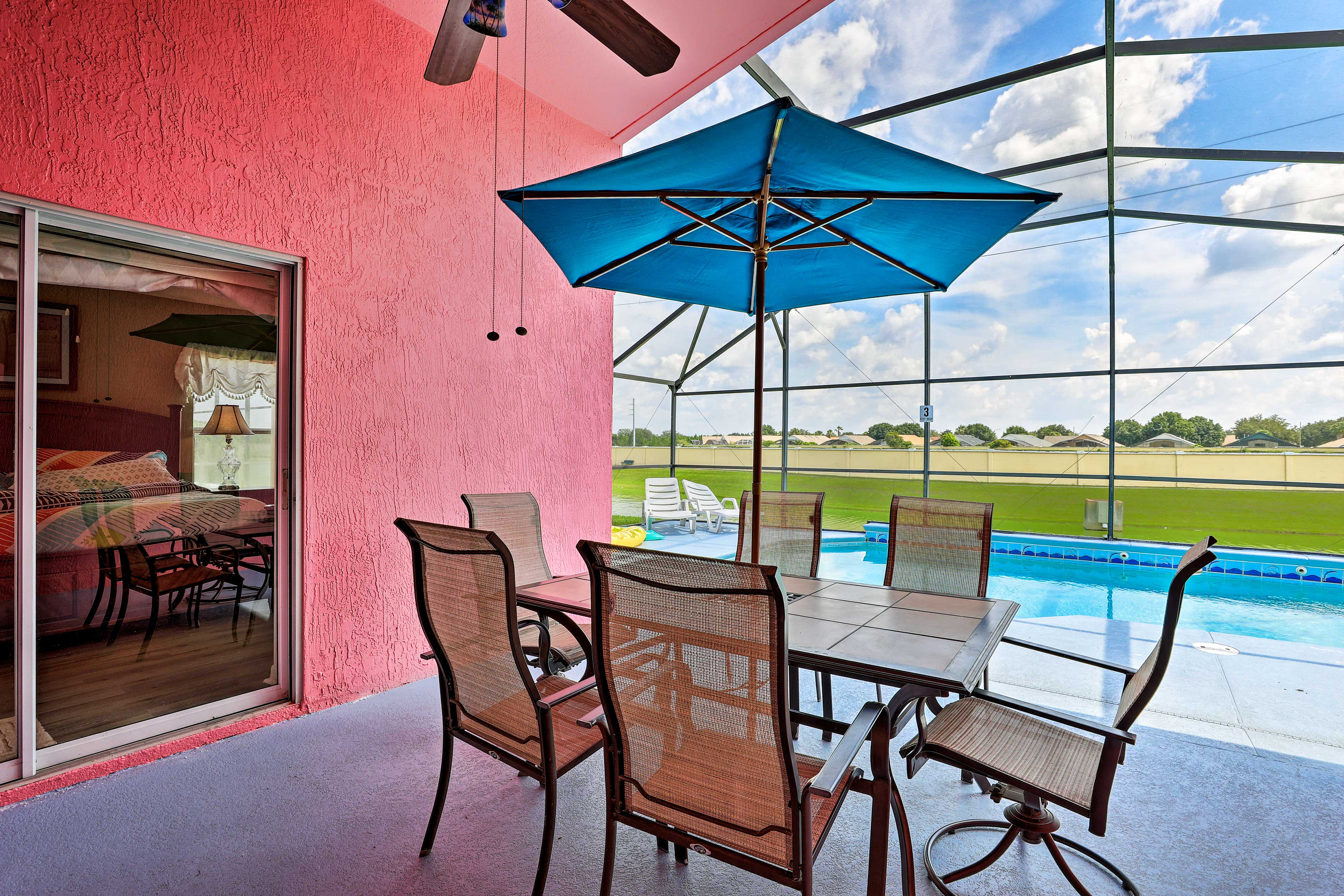 The home is aptly named, 'Pink Villa Orlando'!