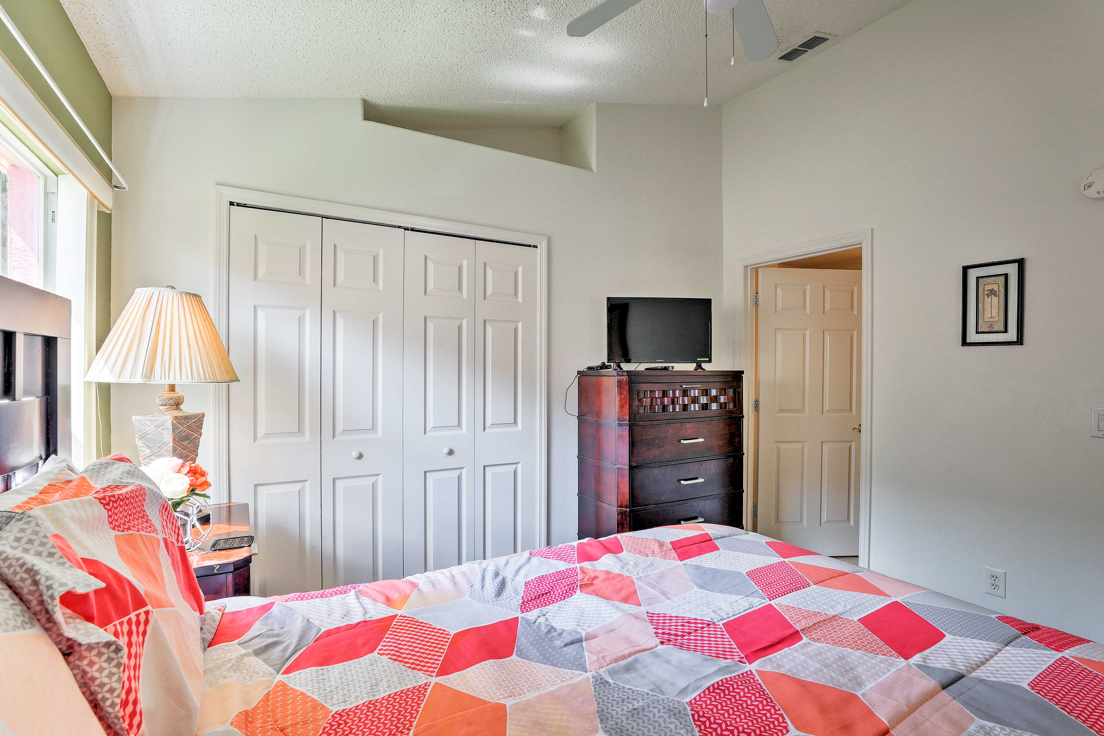 This bedroom features a queen bed waiting for your arrival!