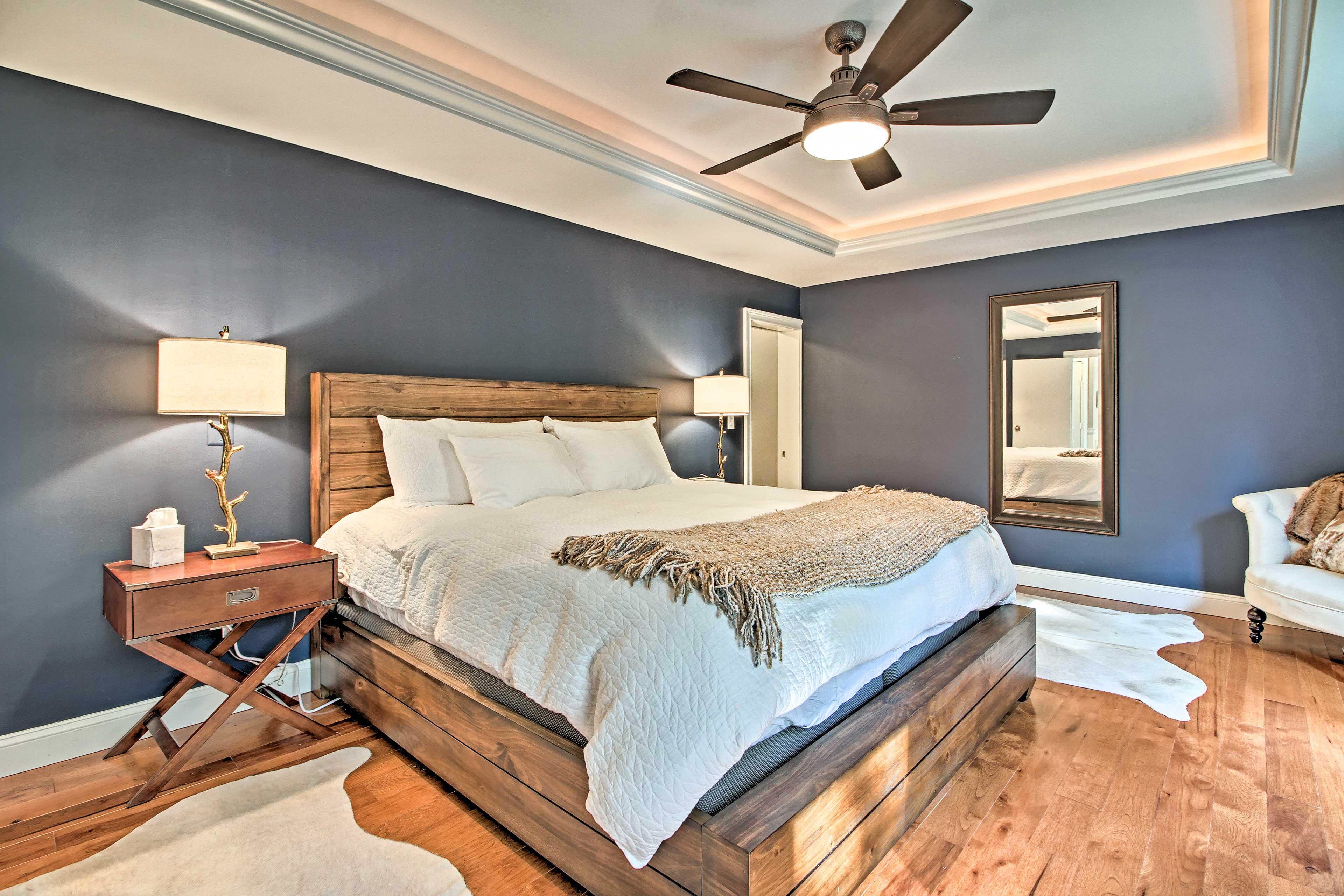 Unique decor fills each room.