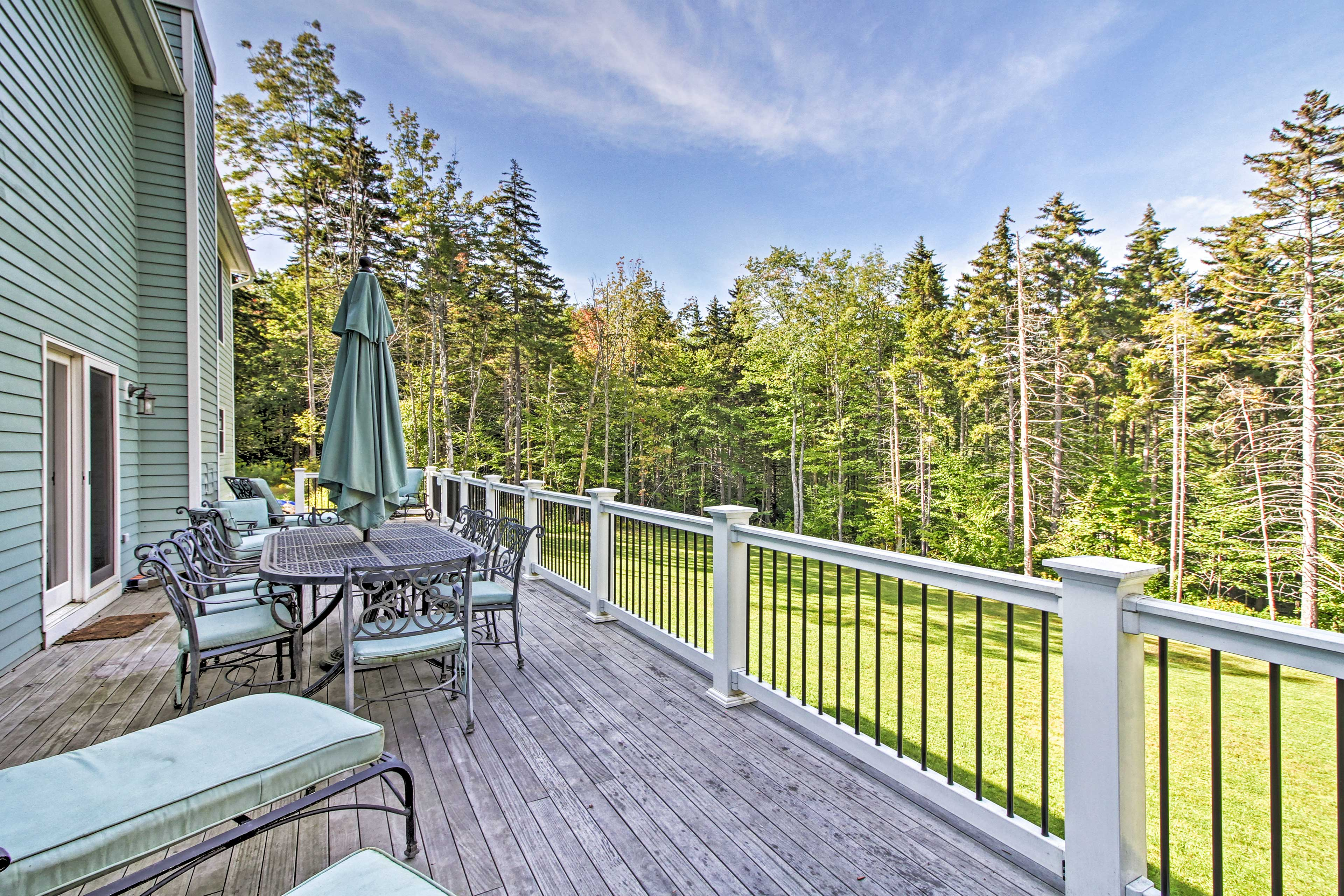 Enjoy fantastic views from the large, private deck.