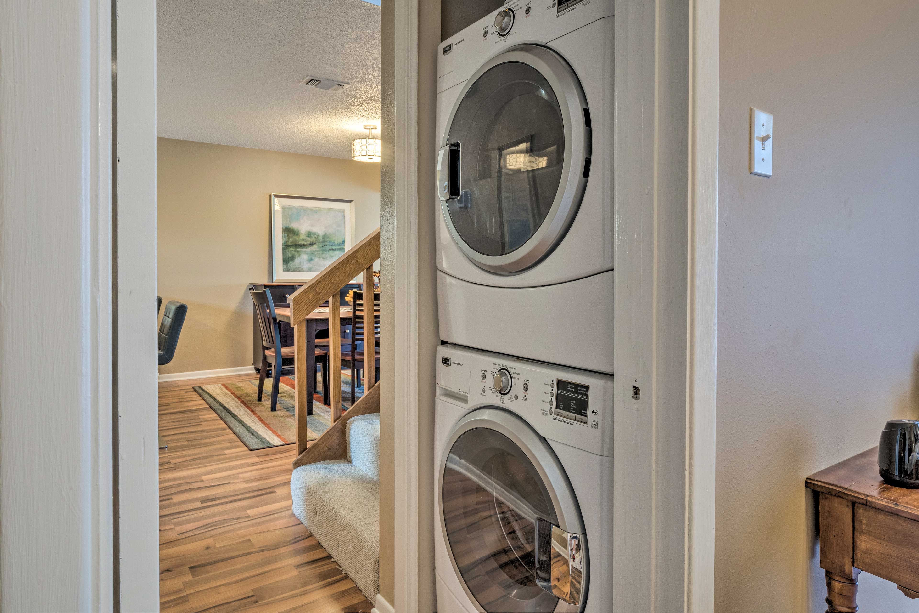 Toss in a load of laundry while you're out for the day.