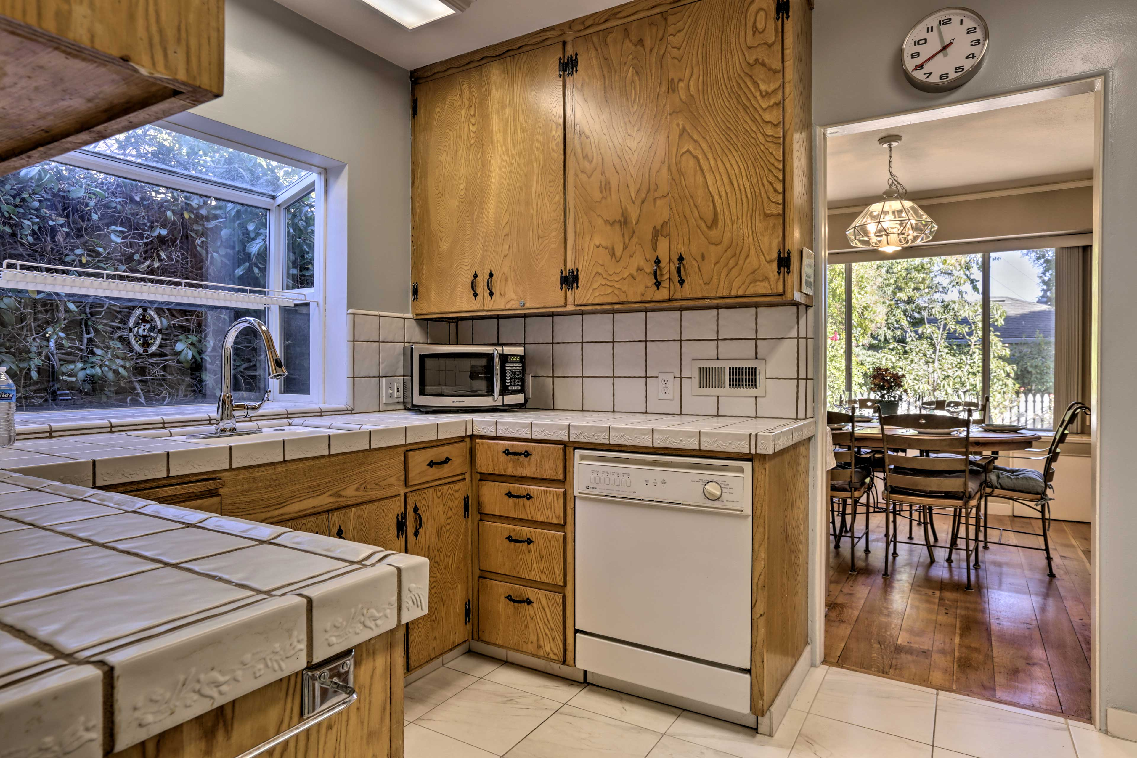 Step into the fully equipped kitchen and get cooking!