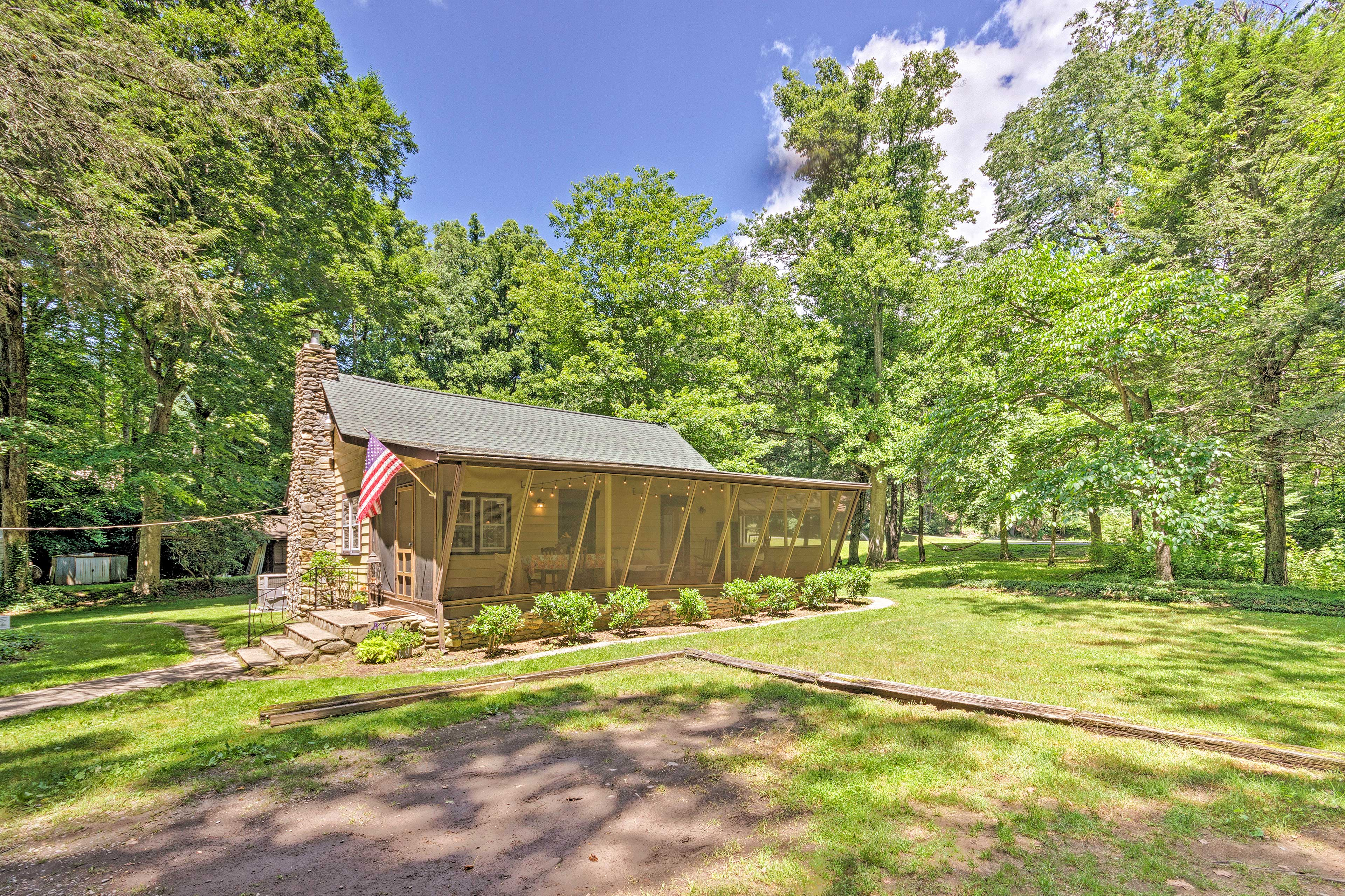 Experience a charming stay at this Black Mountain vacation rental cabin.