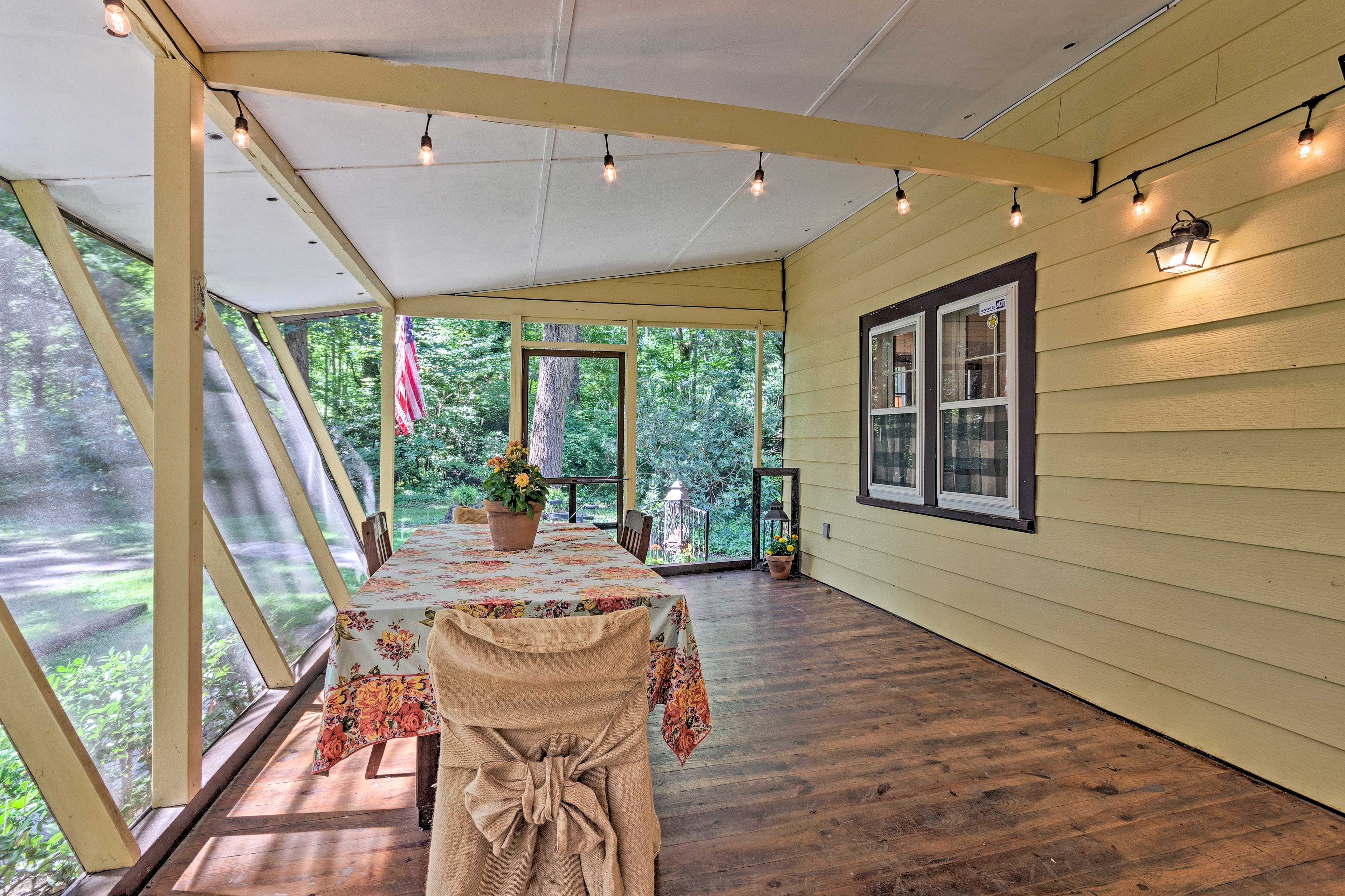 Bring your favorite book to read out in the sunroom.