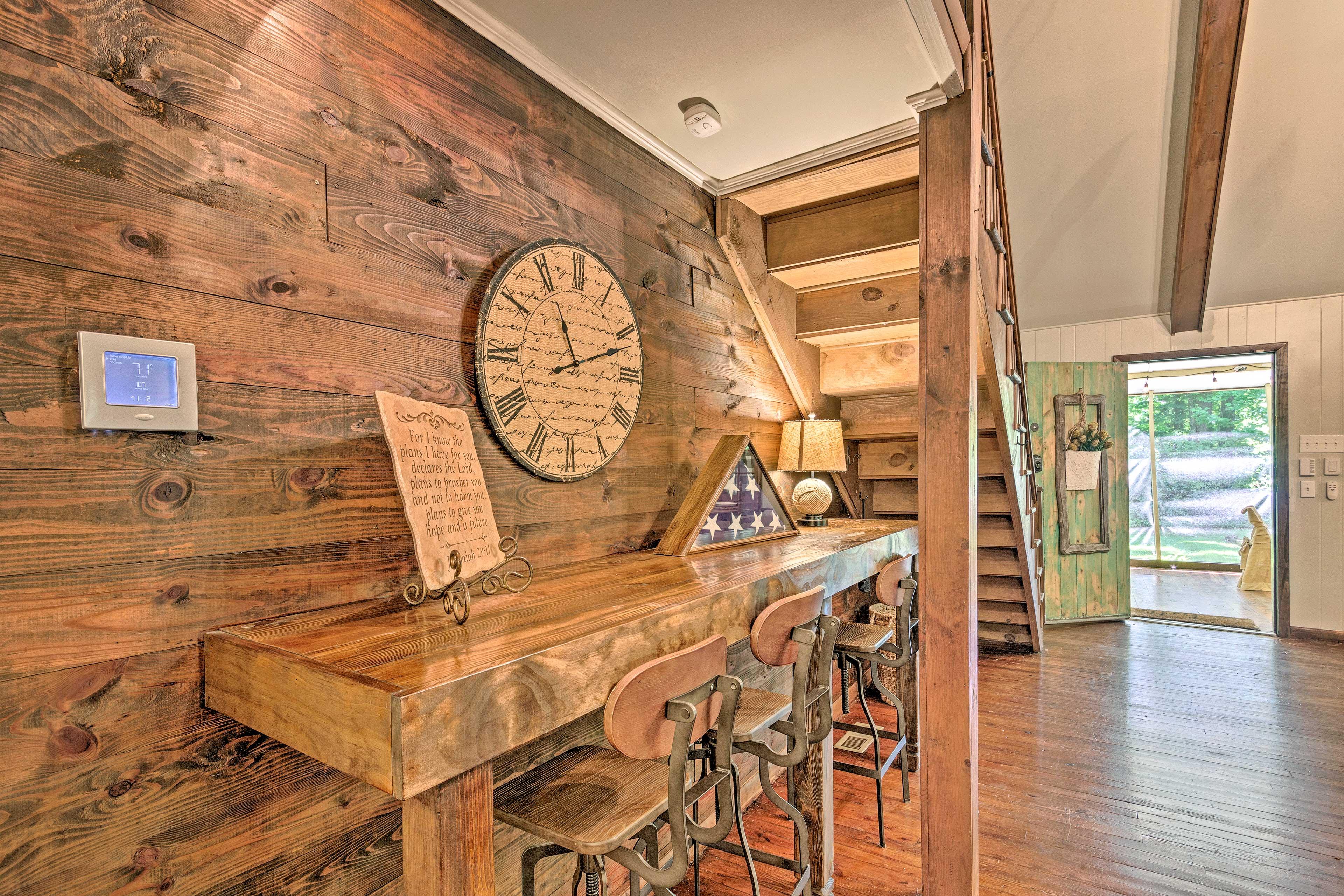 Historic decor completes the interior.