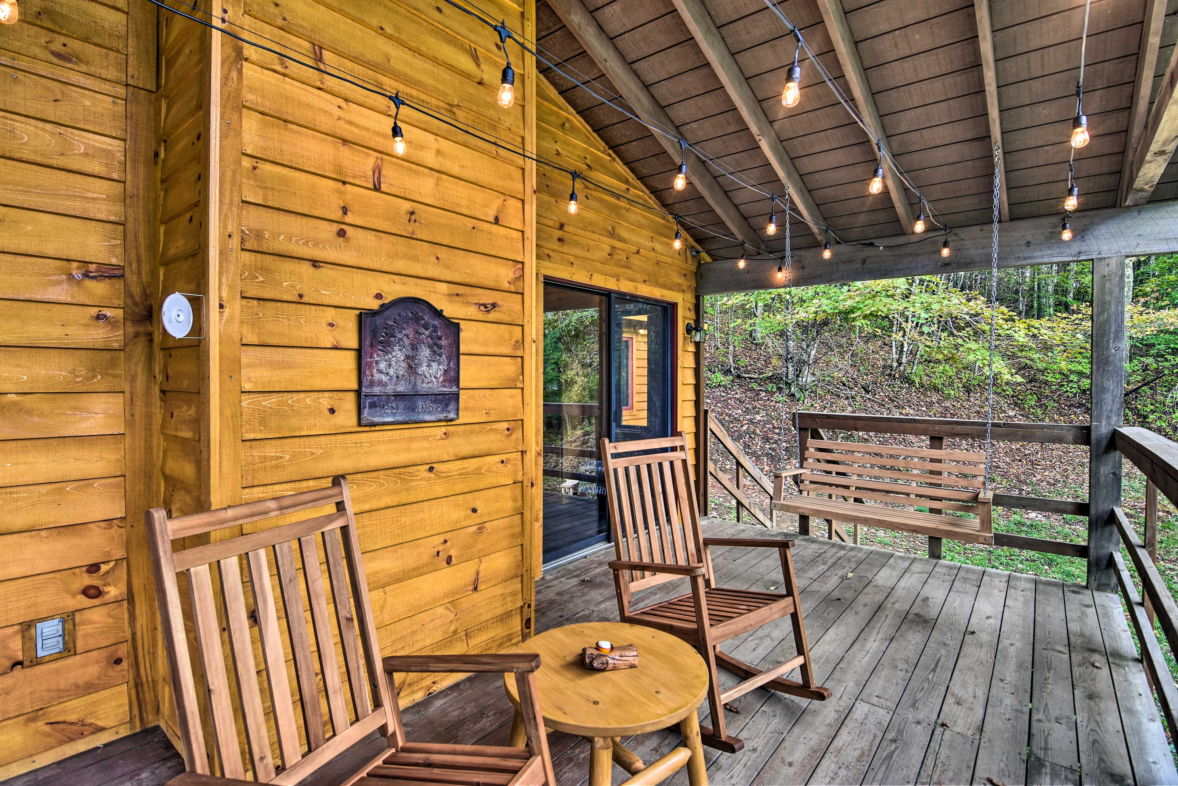 Enjoy a good novel on the deck with the Pisgah National Forest as your backdrop.