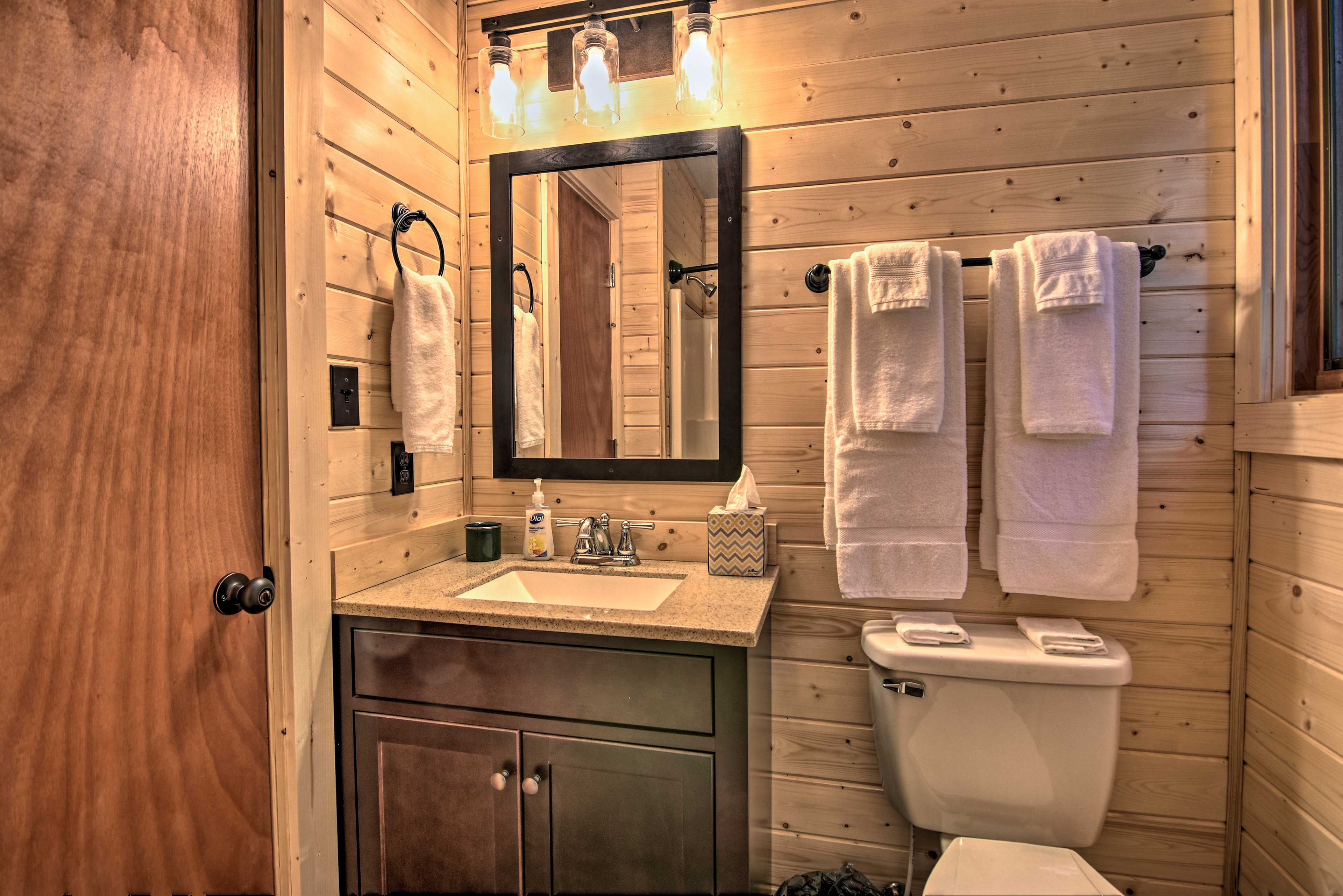 Two full bathrooms make getting ready stress-free!