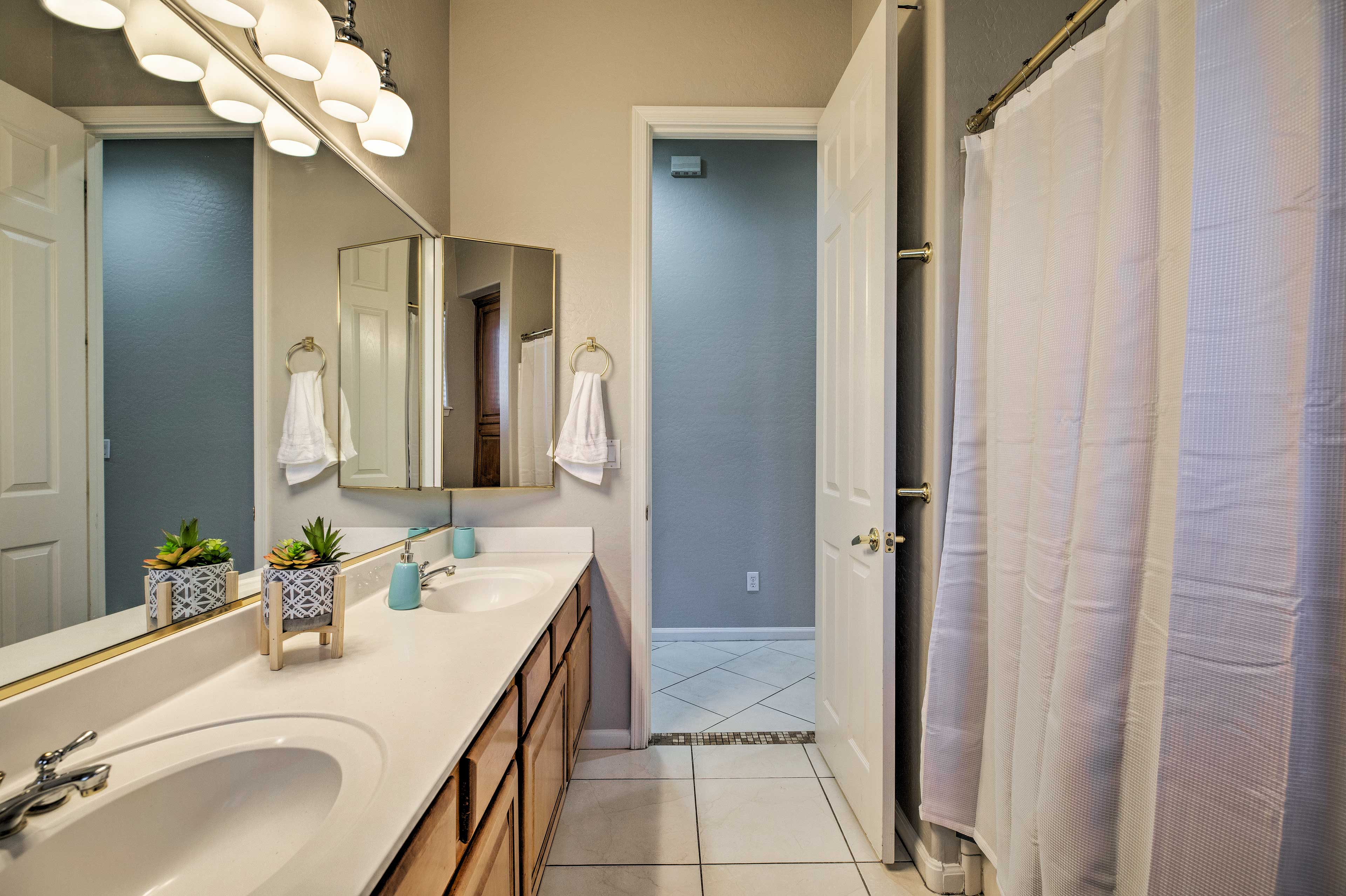 Fresh towels and linens are provided for your convenience.