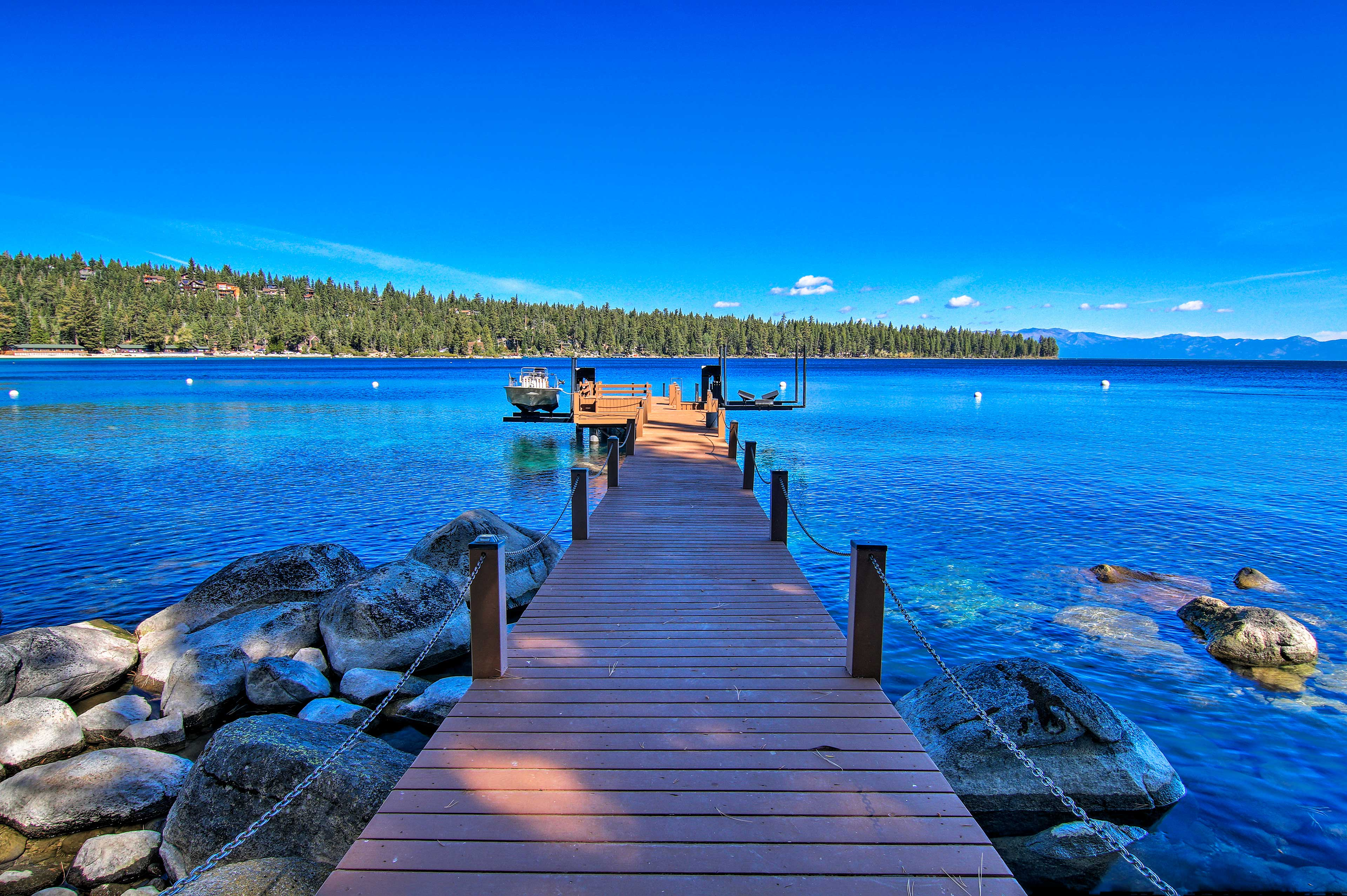 Tie up your boat to the private dock for easy access.