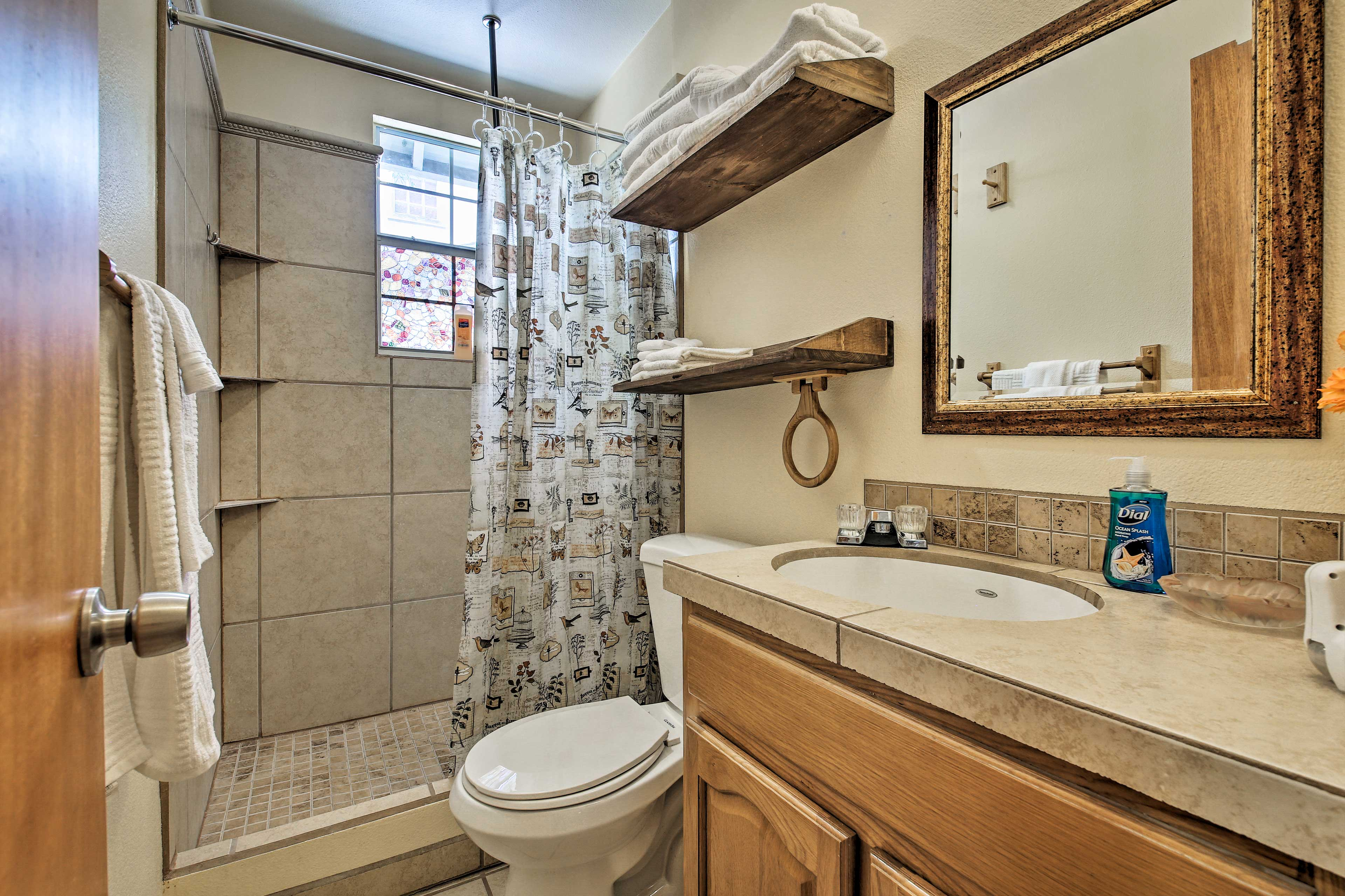 Enjoy a refreshing shower in the second bathroom.