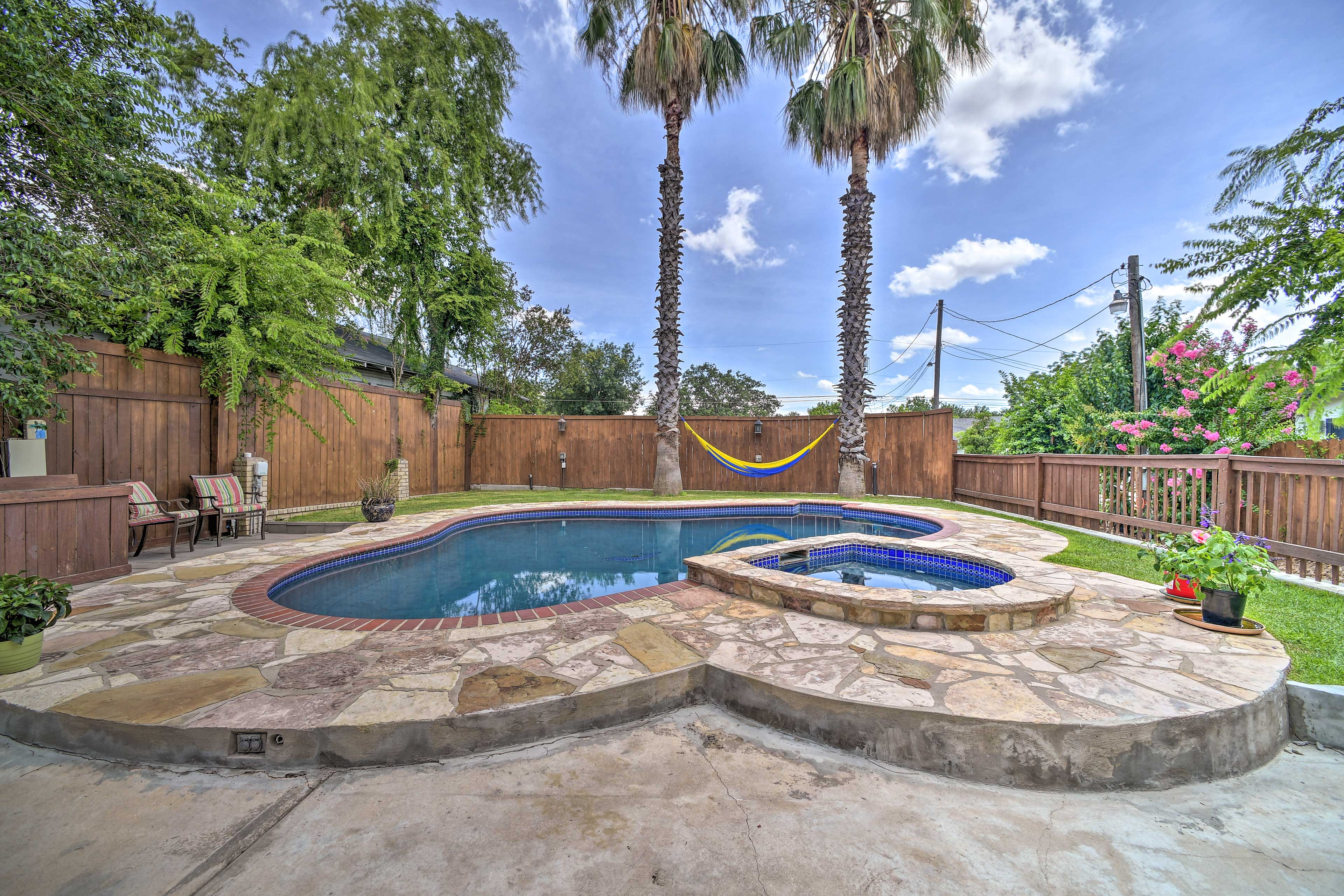 Make a splash in the outdoor pool.