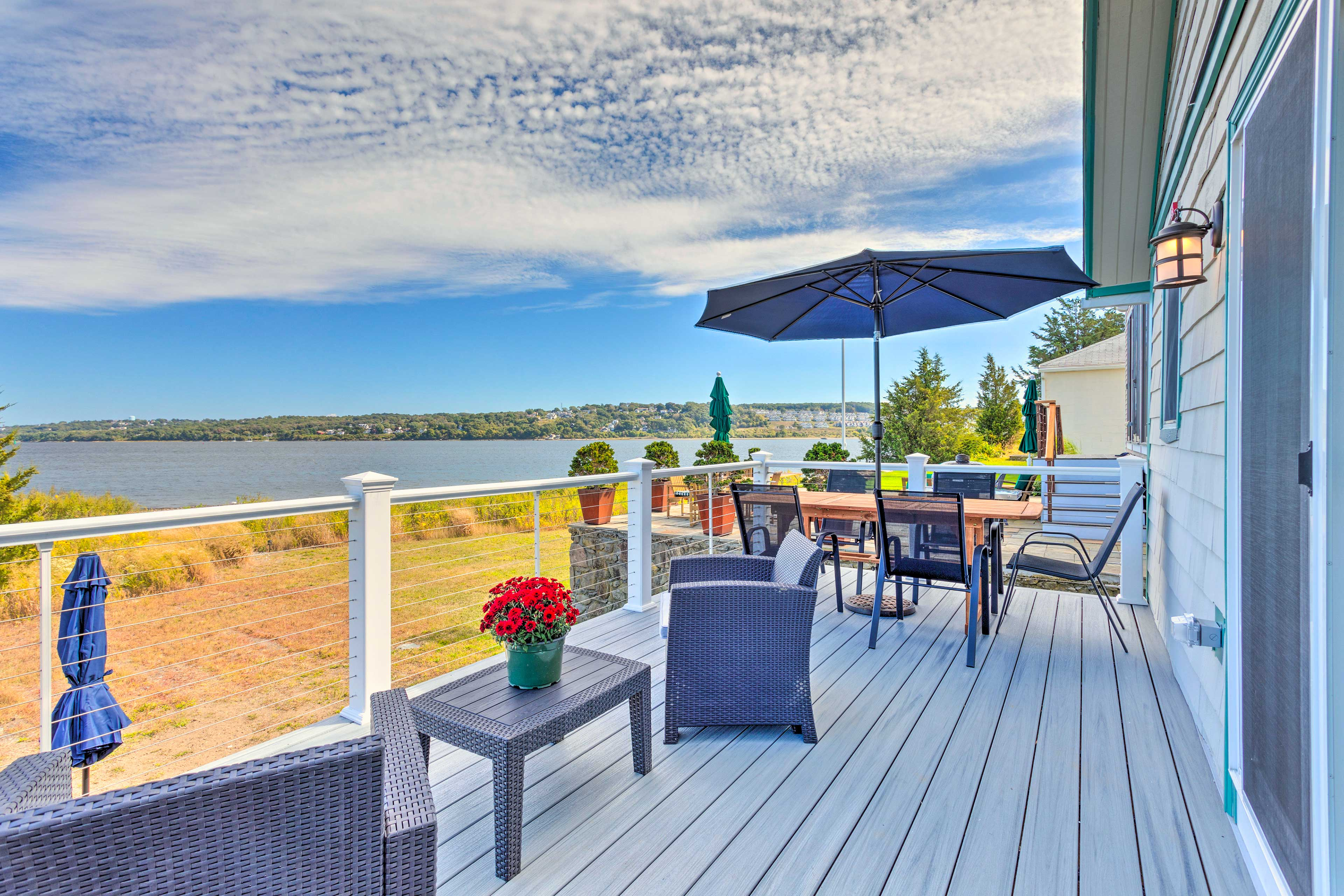 Private Deck   Outdoor Dining Table   Bay Views