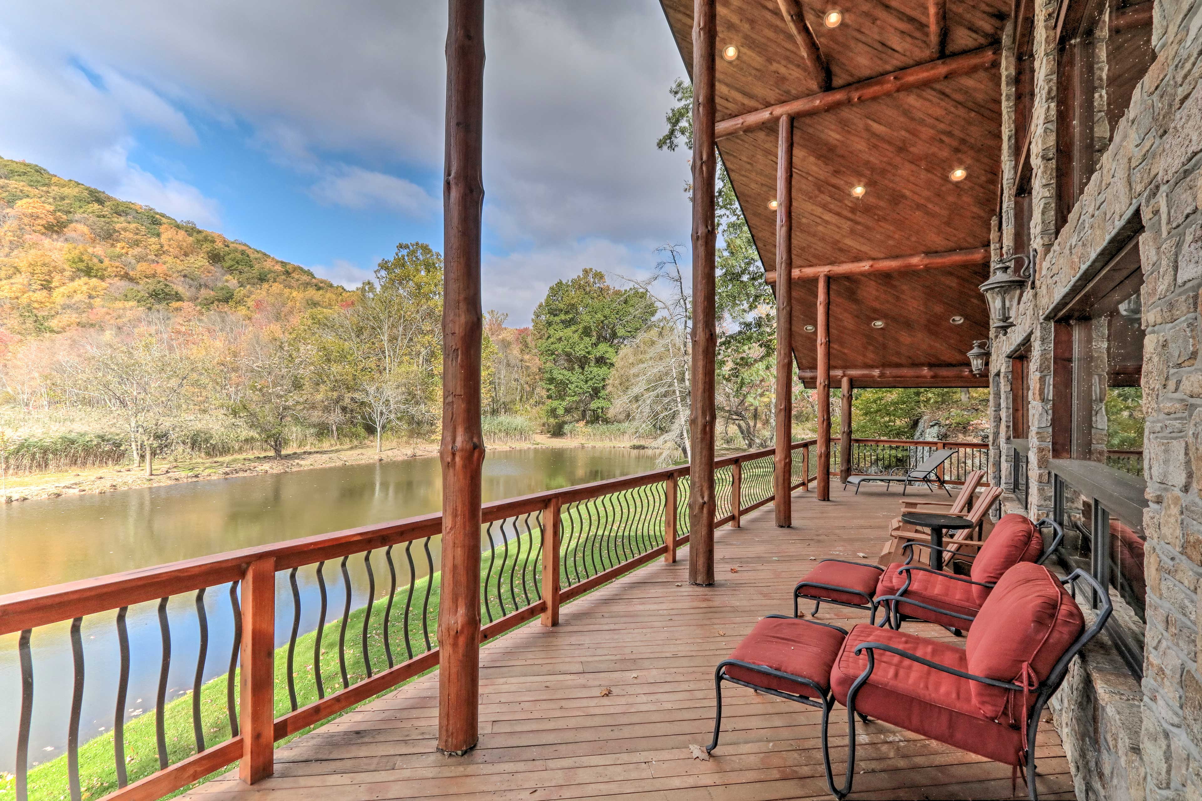 Nestled on a private pond, this cabin offers peaceful waterfront views!
