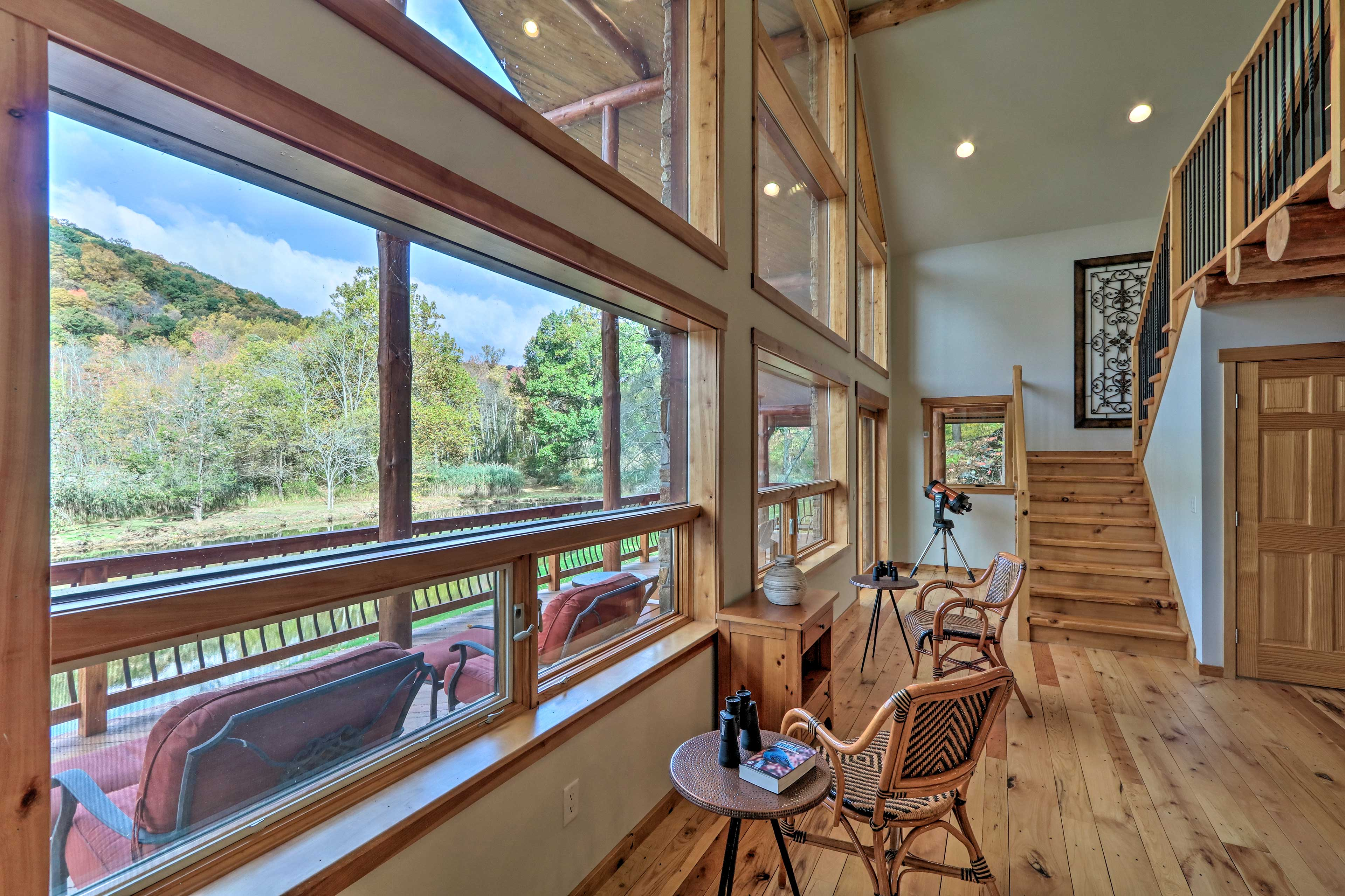 Sit back and relax as you bird watch from the comfort of the cabin.