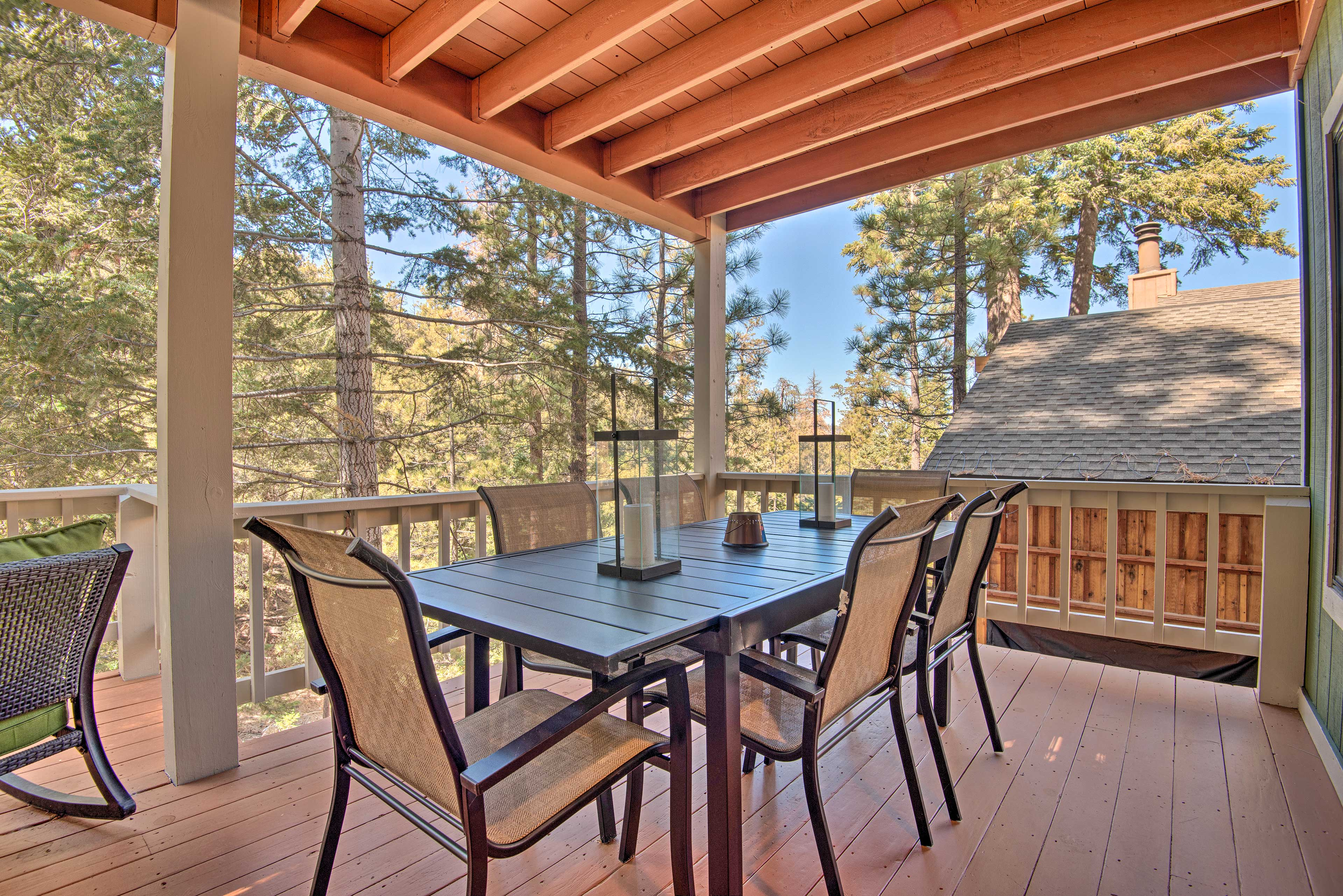 This 3 bedroom, 3-bath home also features a spacious wraparound deck.