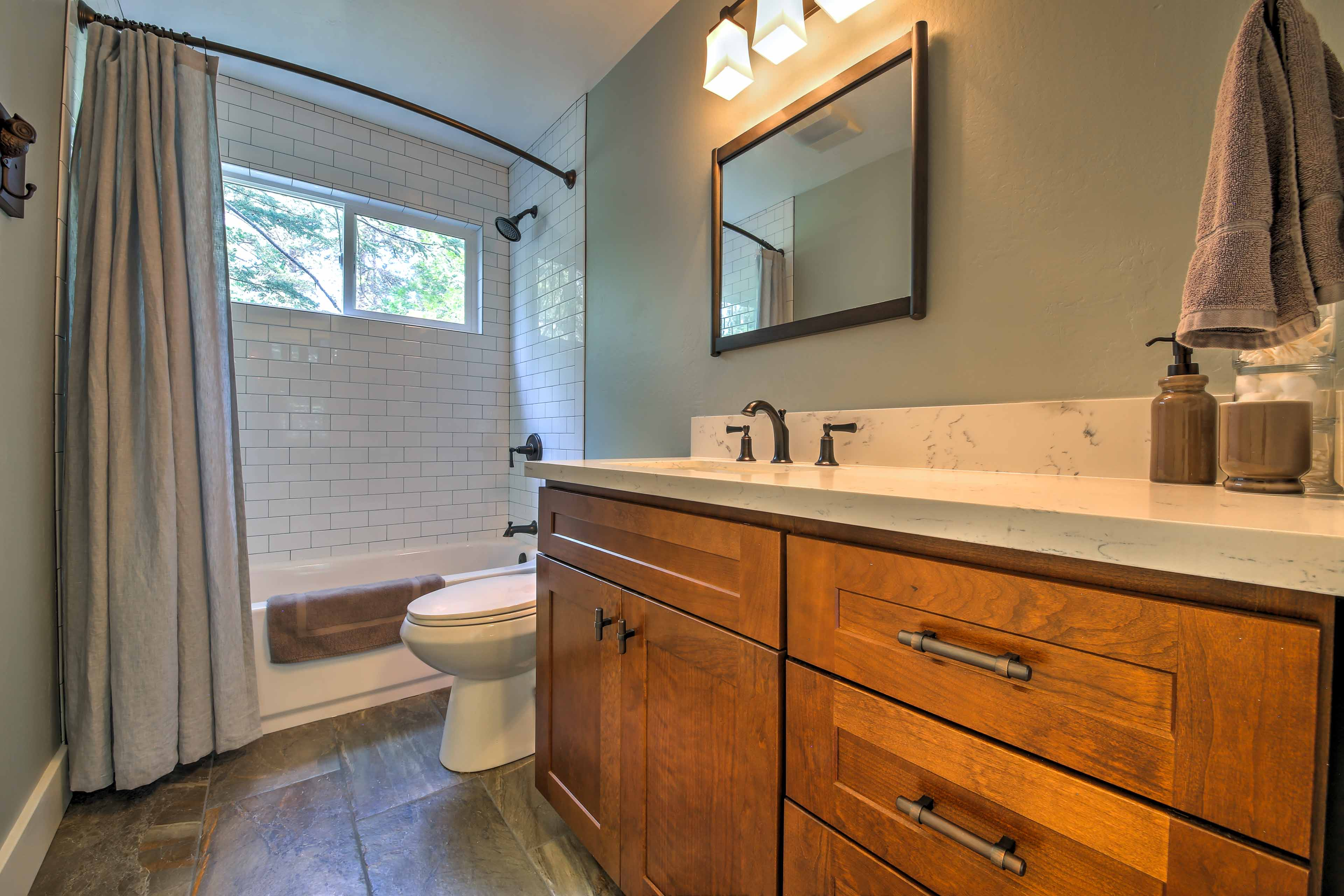 A second full bathroom provides additional privacy for your crew.