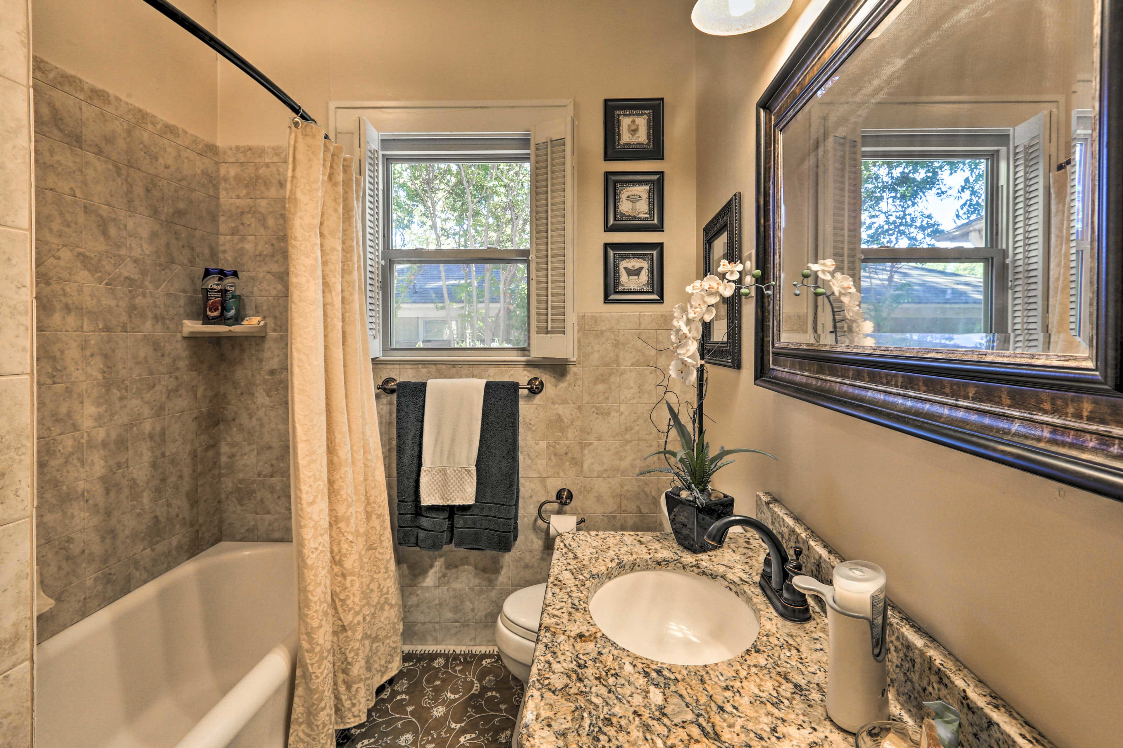 Freshen up in well-equipped full size bathroom!