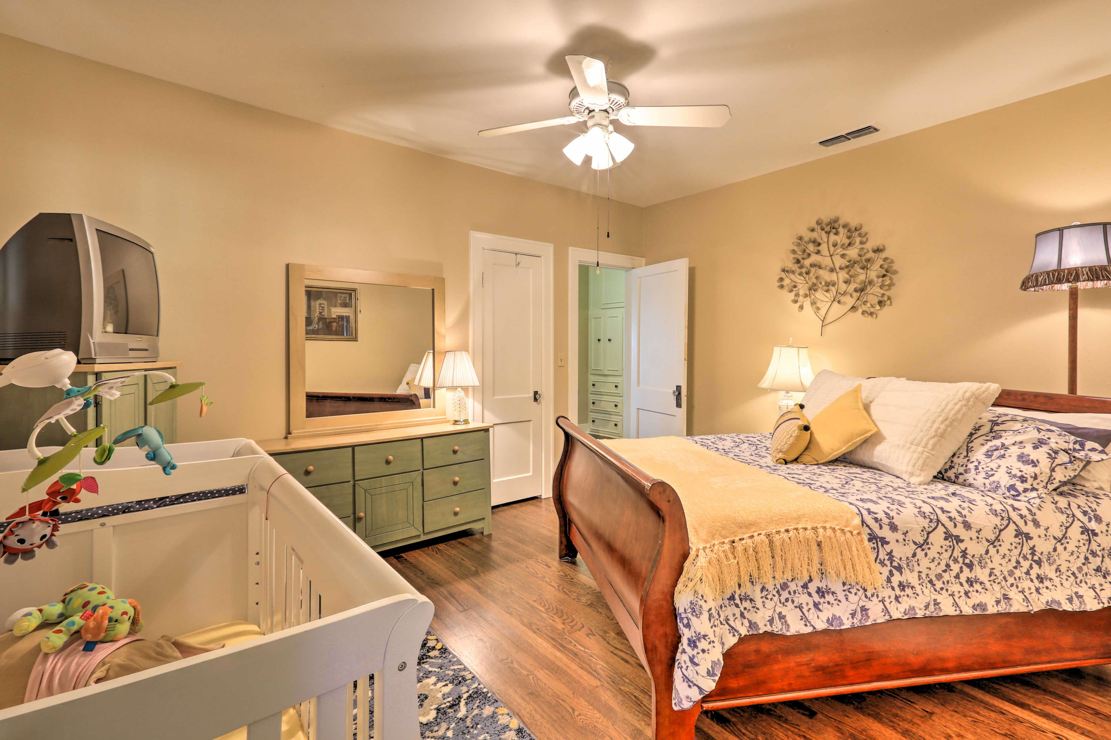 This bedroom is perfect for couples with young children.