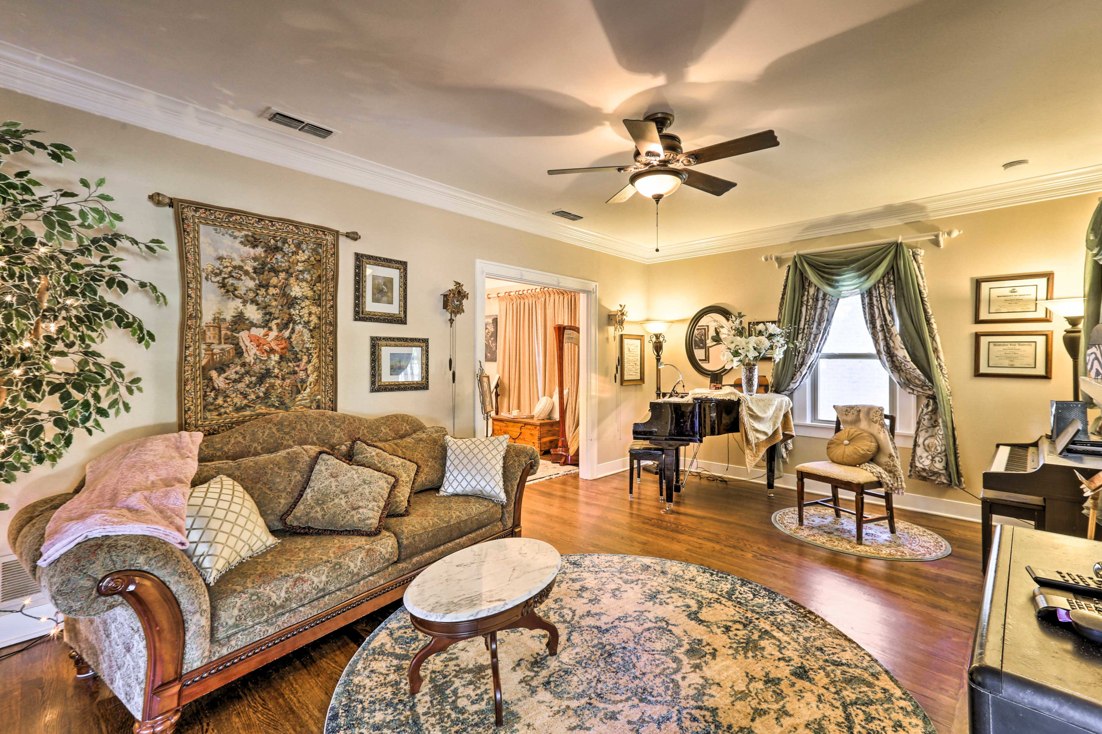 The vacation rental is full of character!