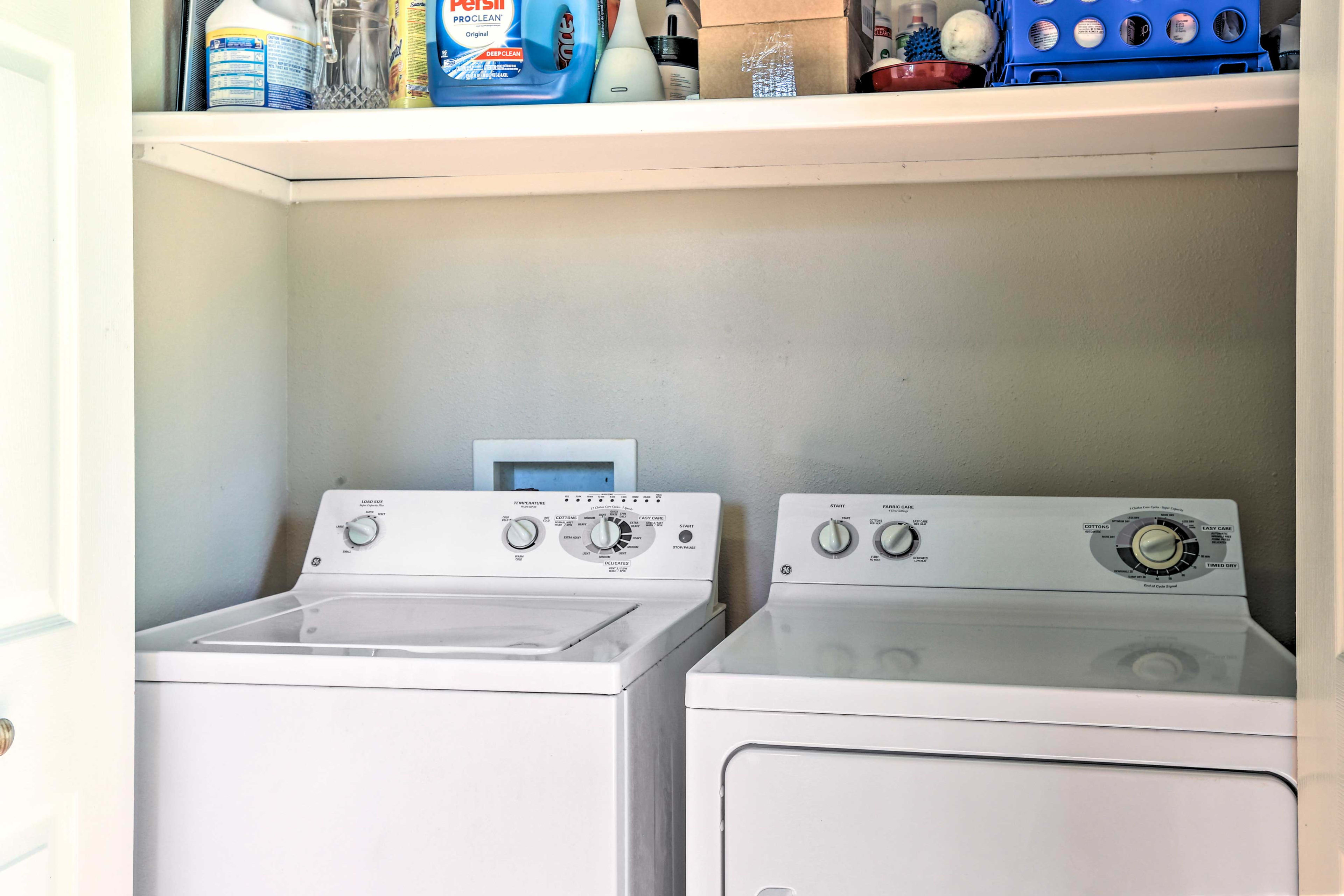 Laundry machines allow guests to keep their wardrobe fresh & clean.