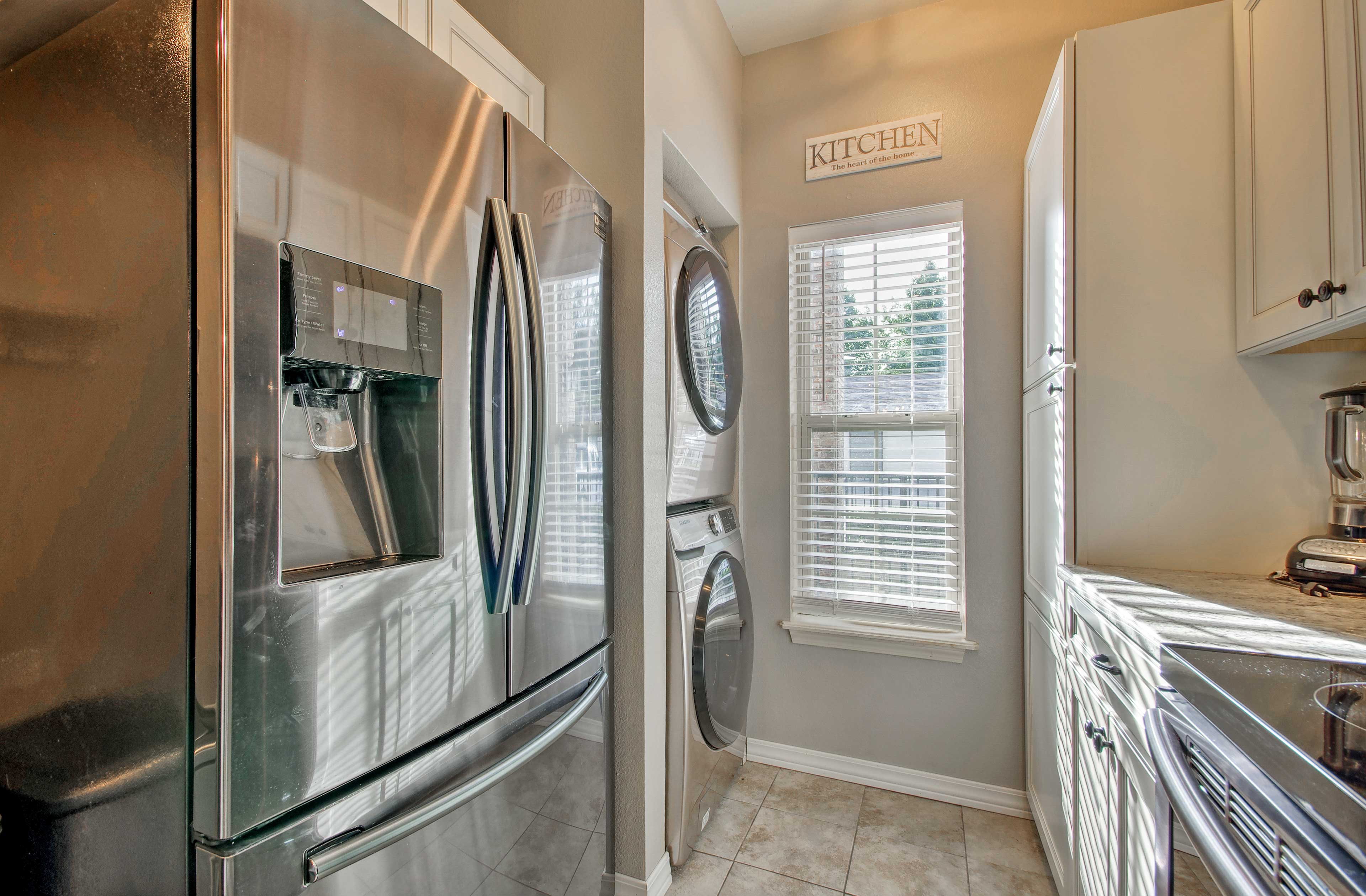 The in-unit washer and dryer add a convenient touch.
