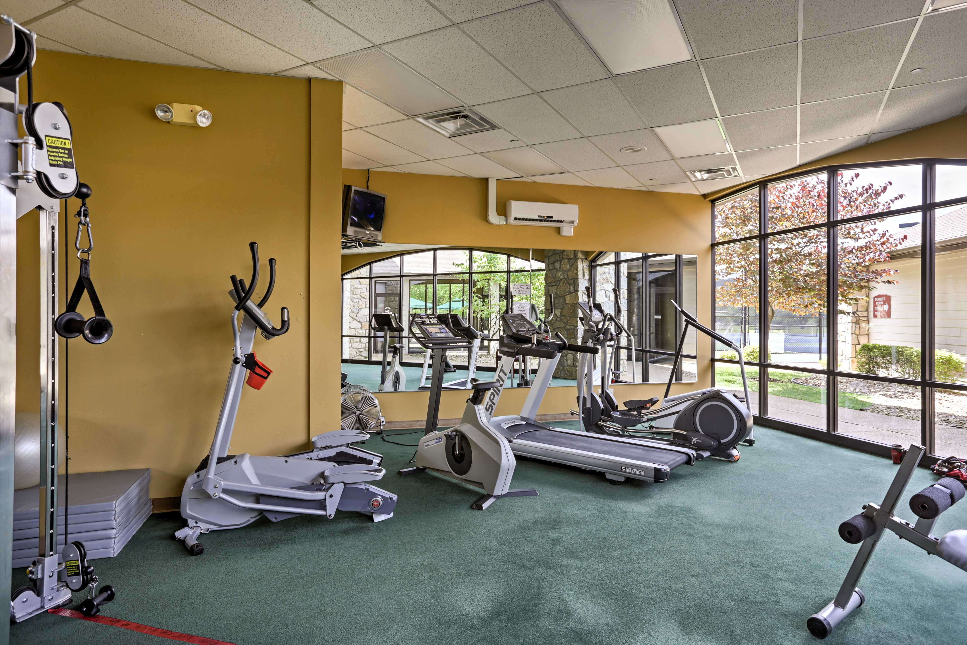 Get a workout in during your stay.